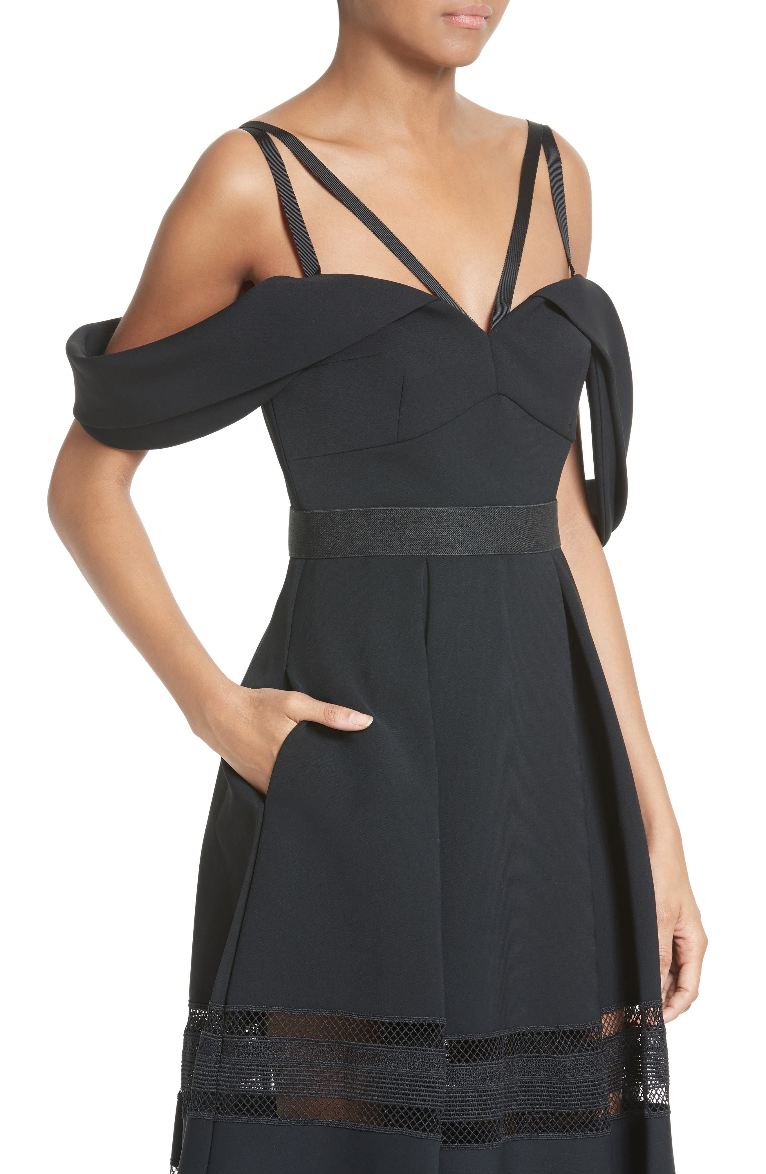Alternate Image 4  - Self-Portrait Cold Shoulder Midi Dress