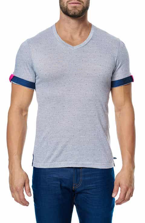 Maceoo V-Neck Stretch T-Shirt