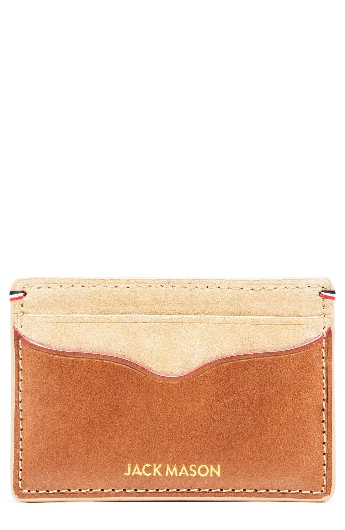 JACK MASON Suede & Leather Card Case