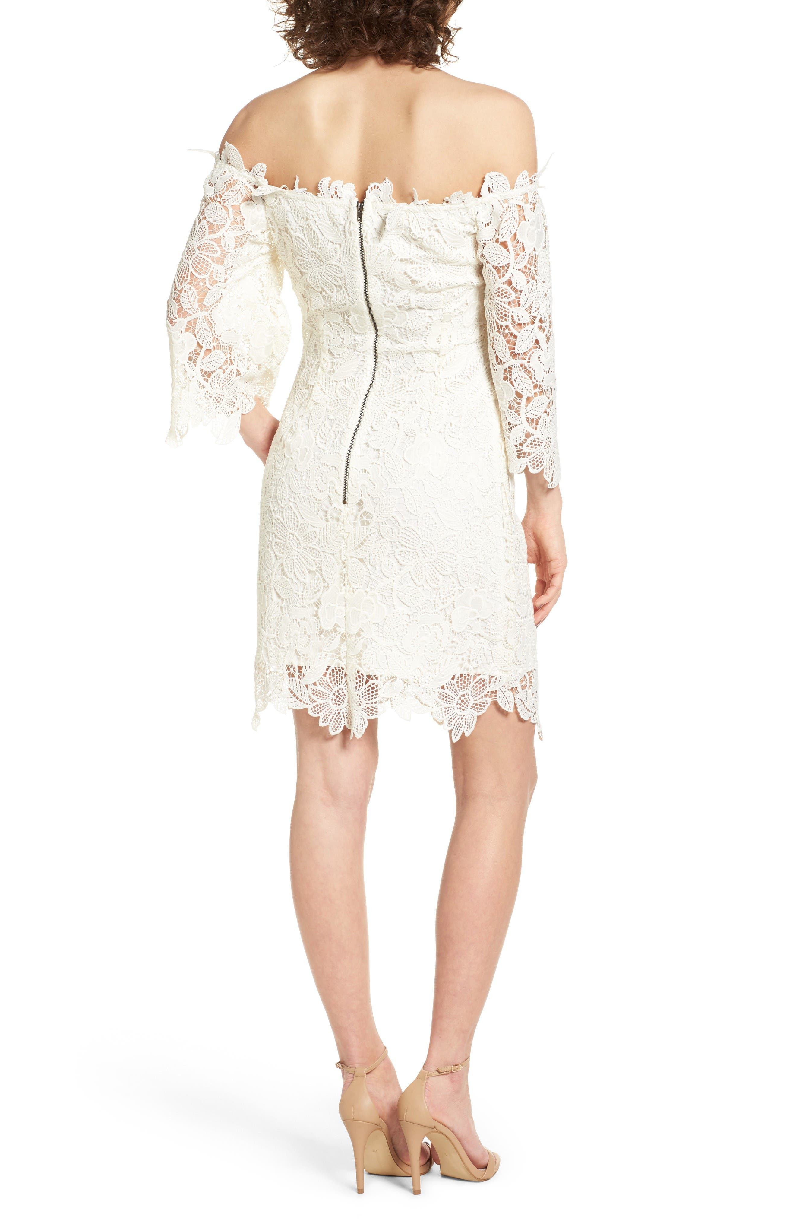 Alternate Image 3  - ASTR the Label Madeline Off the Shoulder Lace Minidress