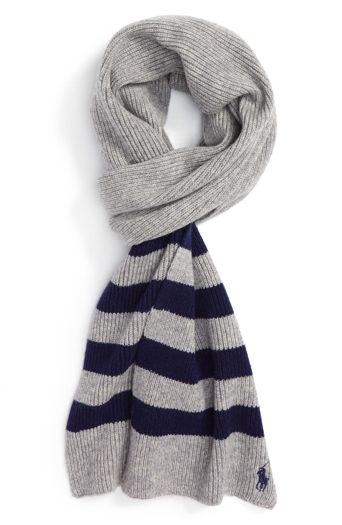 Alternate Image 1 Selected - Polo Ralph Lauren Stripe Wool & Cashmere Scarf