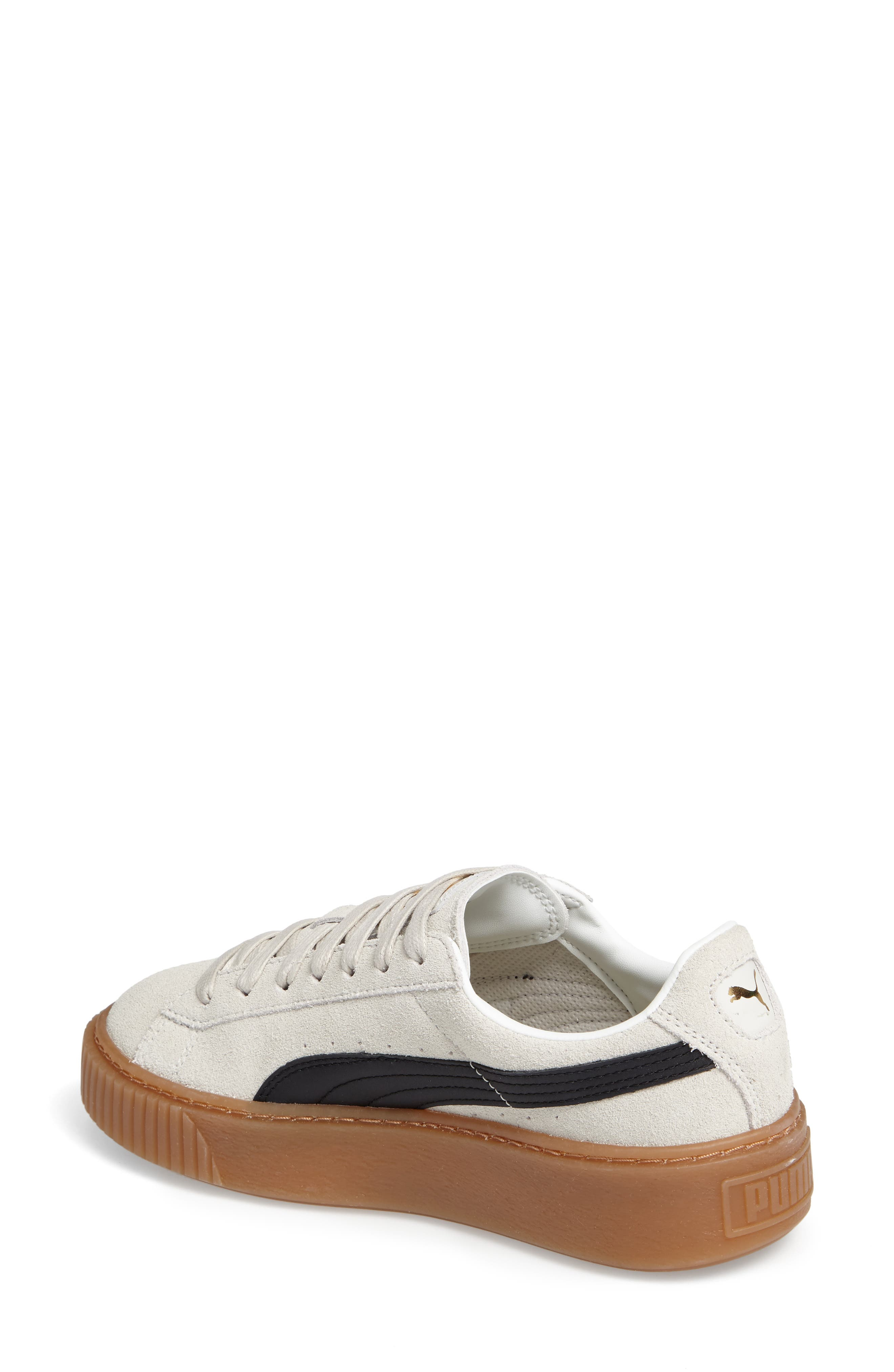 Alternate Image 2  - PUMA Suede Platform Core Sneaker (Women)