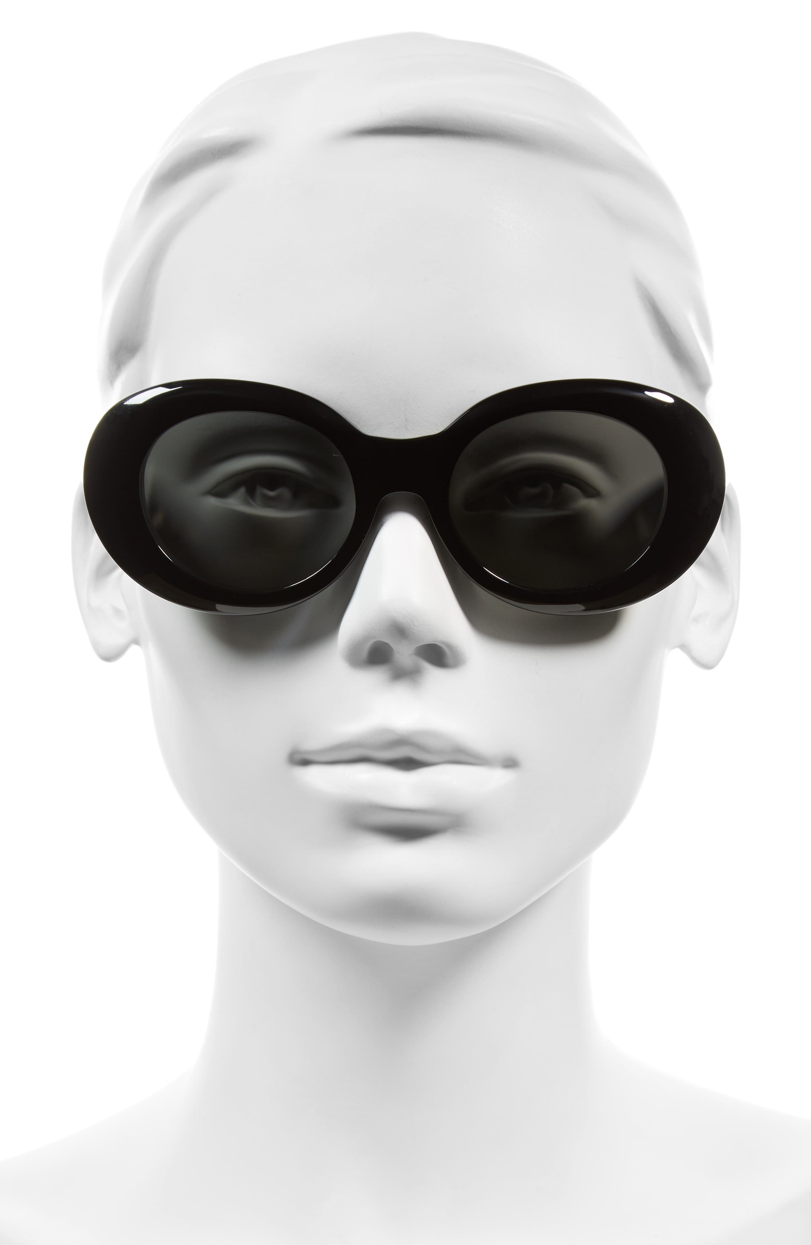 Alternate Image 2  - ACNE Studios Mustang 47mm Oval Sunglasses