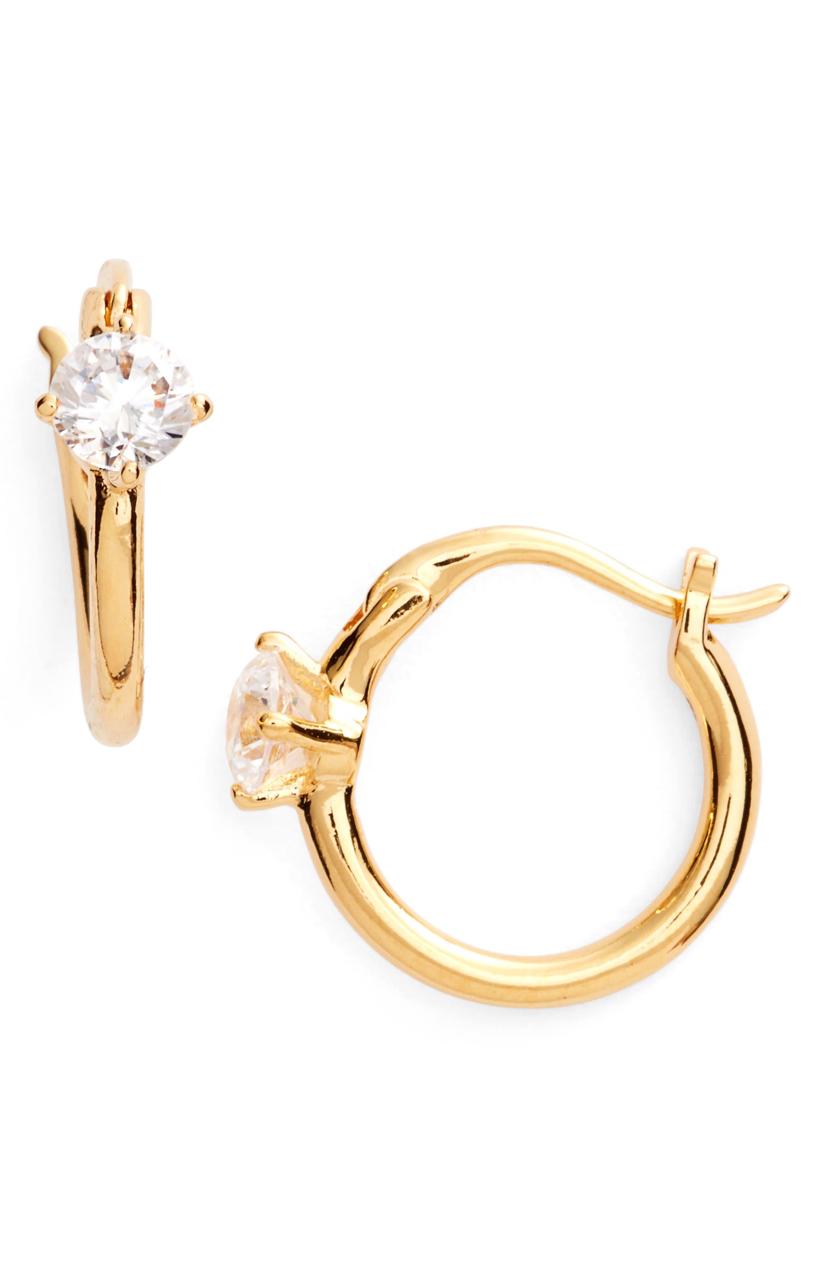 Nadri Jasmine Small Hoop Earrings