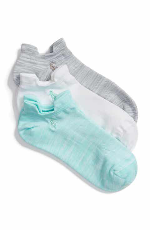 Ralph Lauren 3-Pack Double Tab Ankle Socks