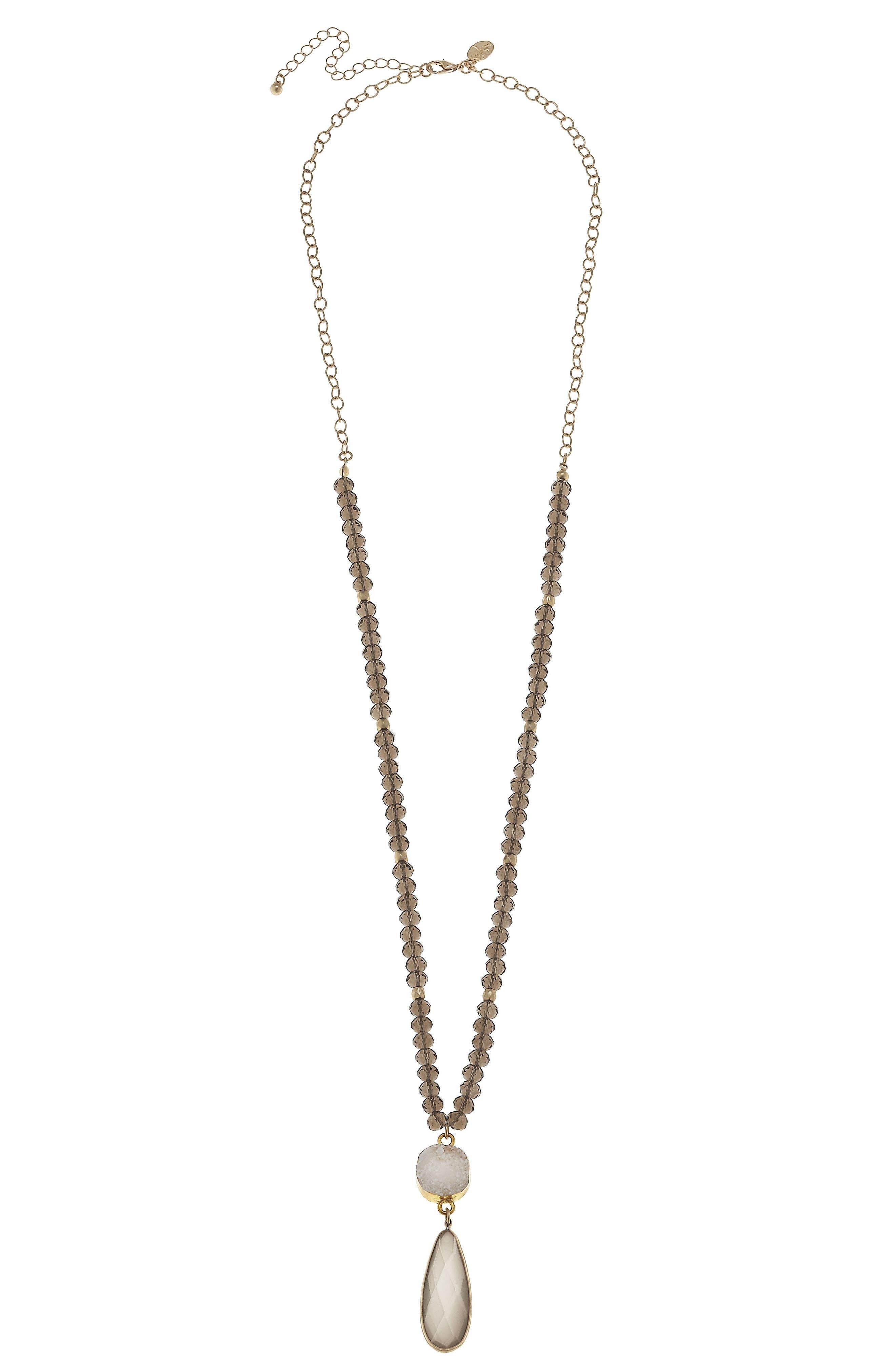 canvas jewelry teardrop pendant necklace nordstrom
