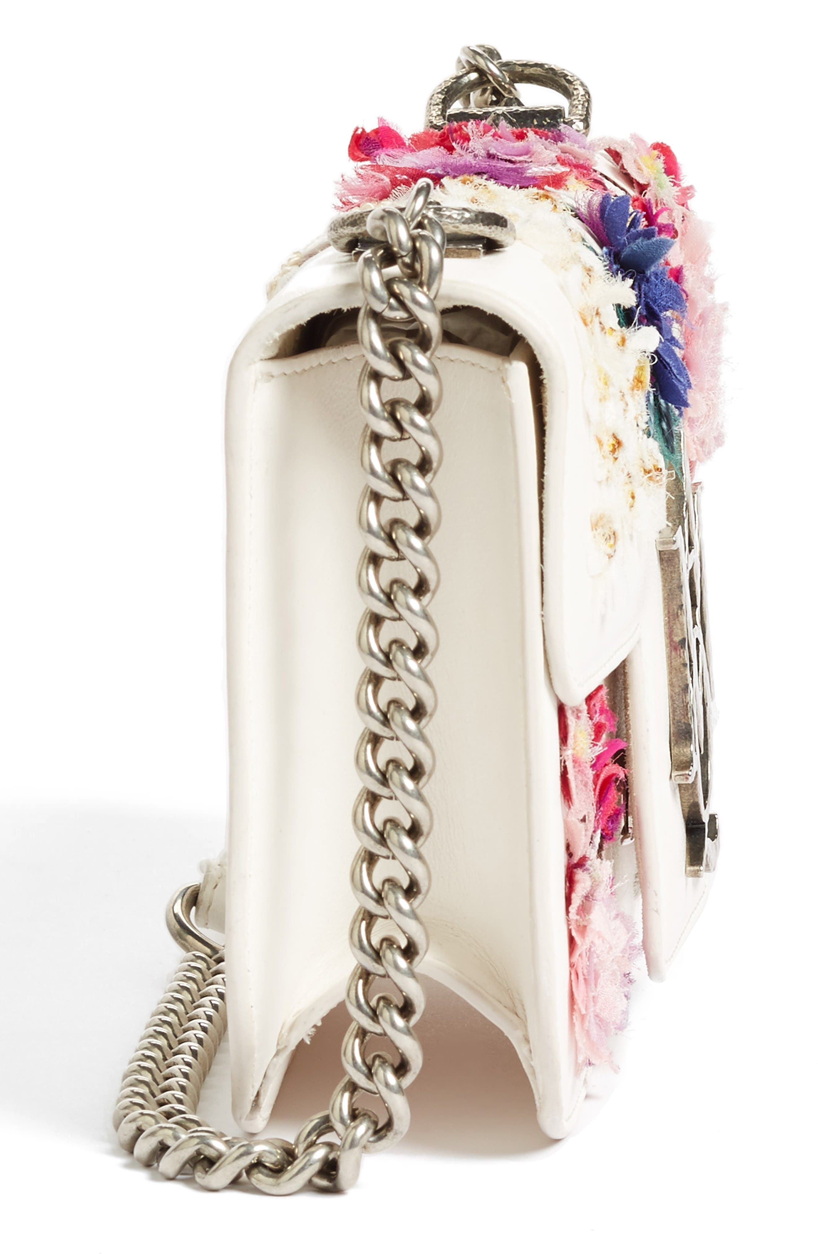 Alternate Image 3  - Alexander McQueen Small Insignia Leather Shoulder Bag