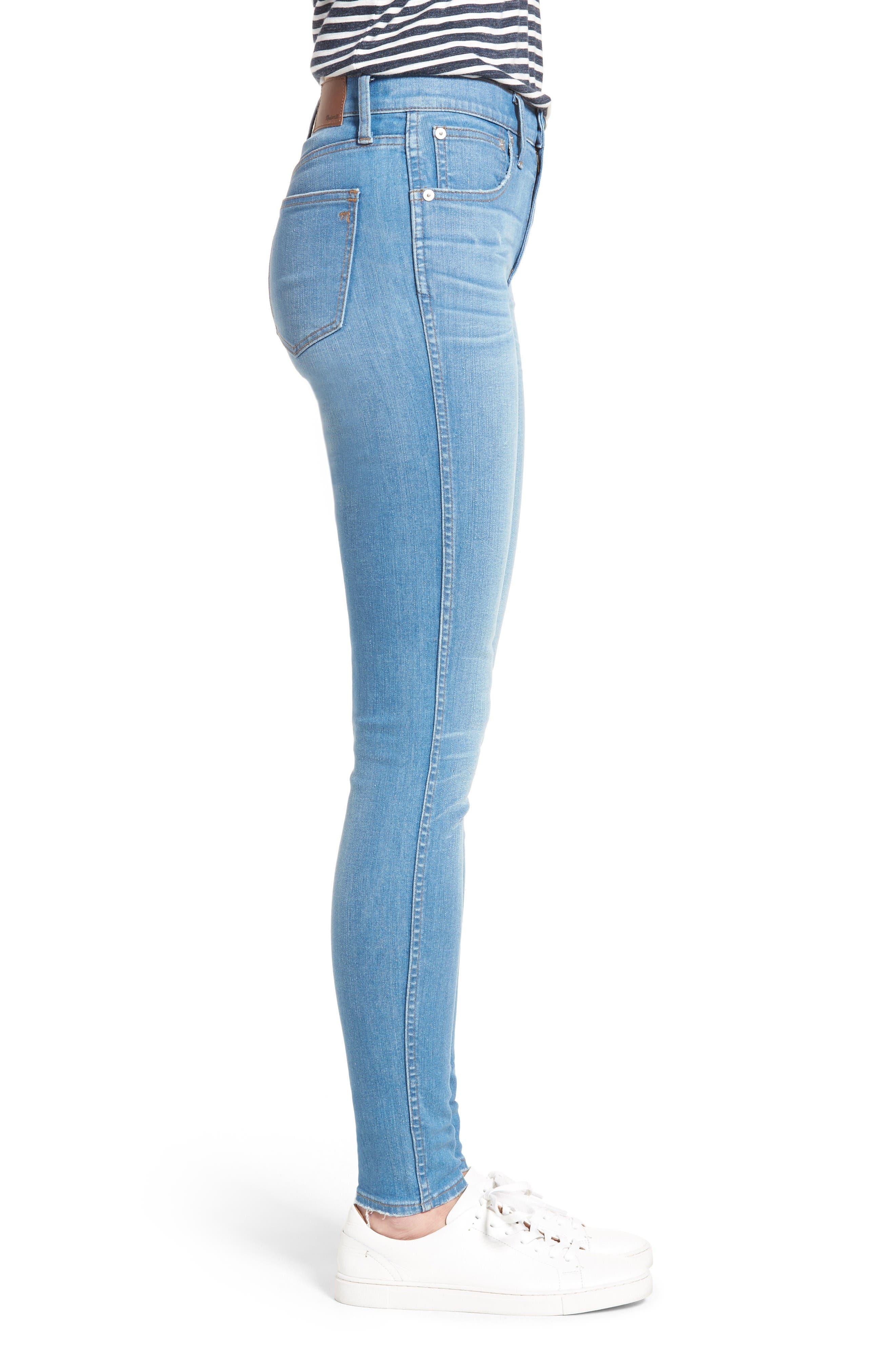 Alternate Image 3  - Madewell High Rise Skinny Jeans (Hank Wash)
