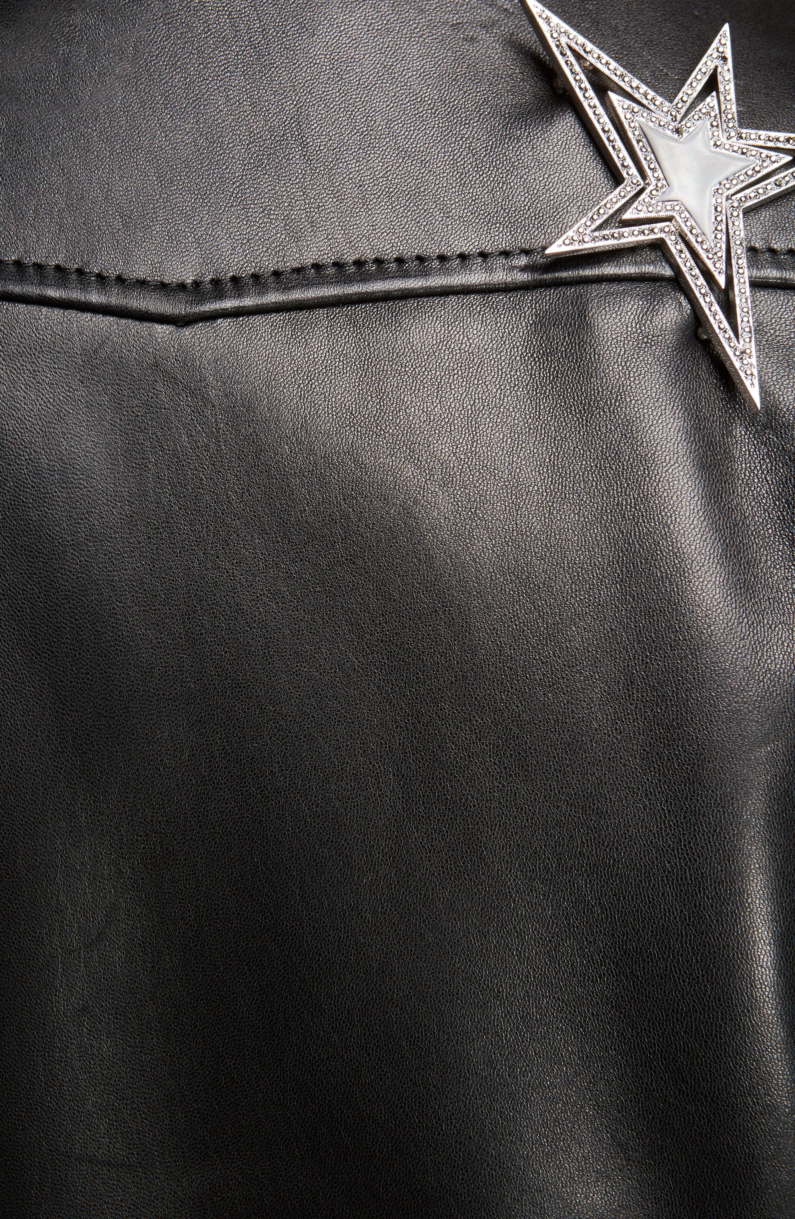 Alternate Image 3  - Saint Laurent YSL Logo Classic Leather Moto Jacket