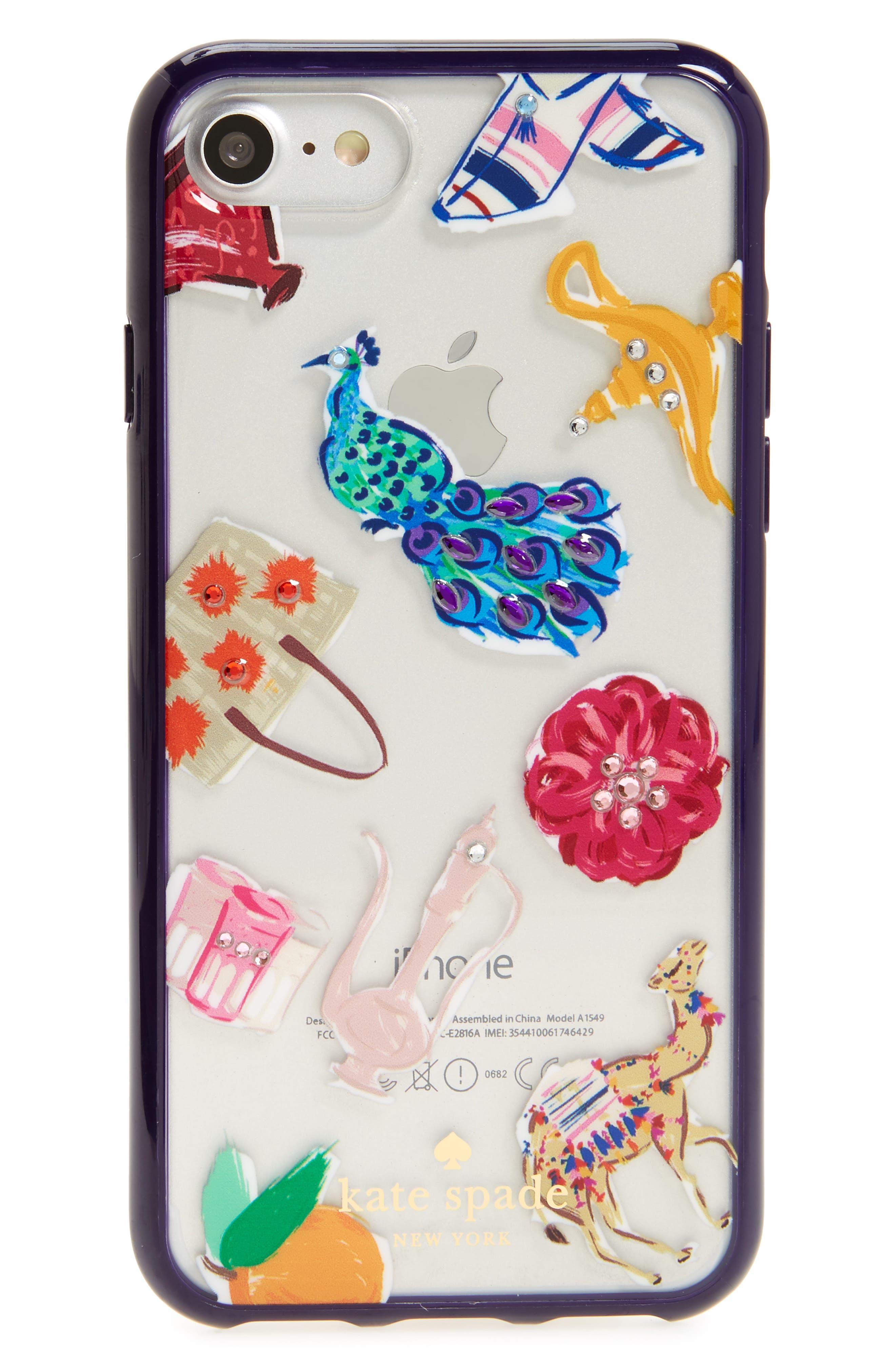 KATE SPADE NEW YORK jeweled souk iPhone 7