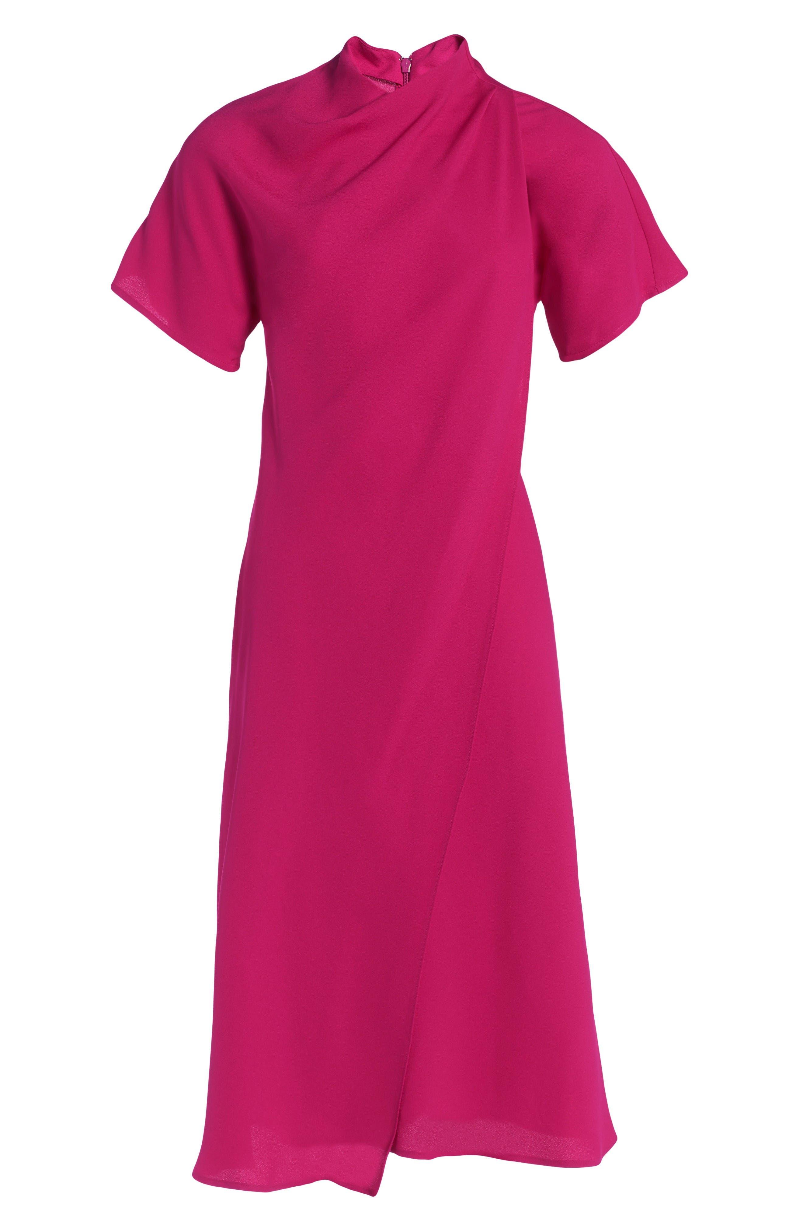 Alternate Image 4  - Topshop Origami Drape Neck Midi Dress