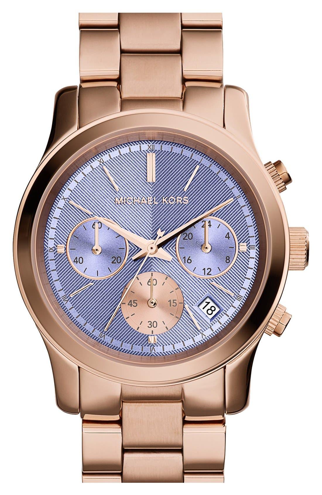 Alternate Image 1 Selected - Michael Kors 'Runway' Chronograph Watch, 38mm