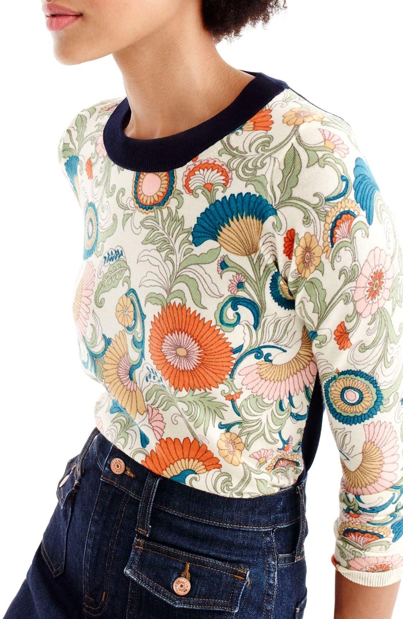 Alternate Image 3  - J.Crew Tippi Ornate Floral Sweater