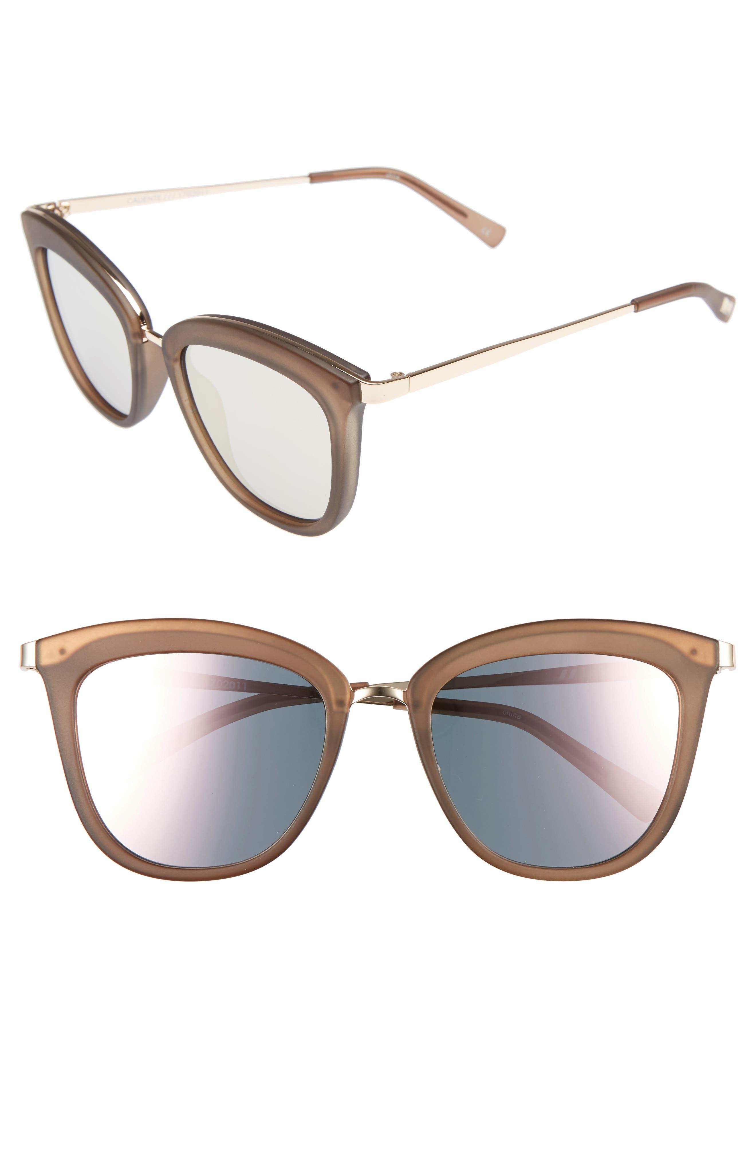 Le Specs Caliente 53mm Cat Eye Sunglasses