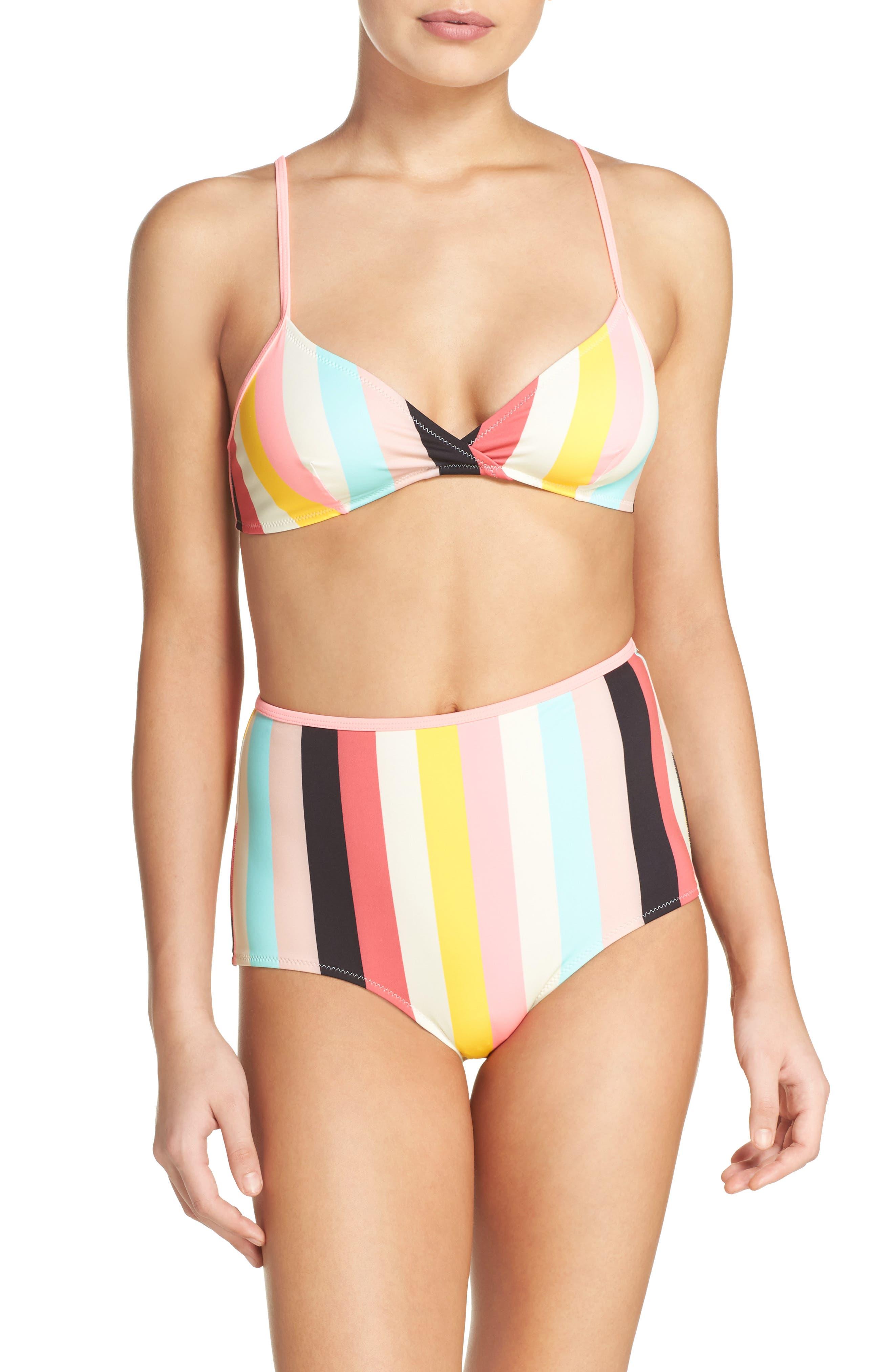 Alternate Image 6  - Solid & Striped Brigitte High Waist Bikini Bottoms