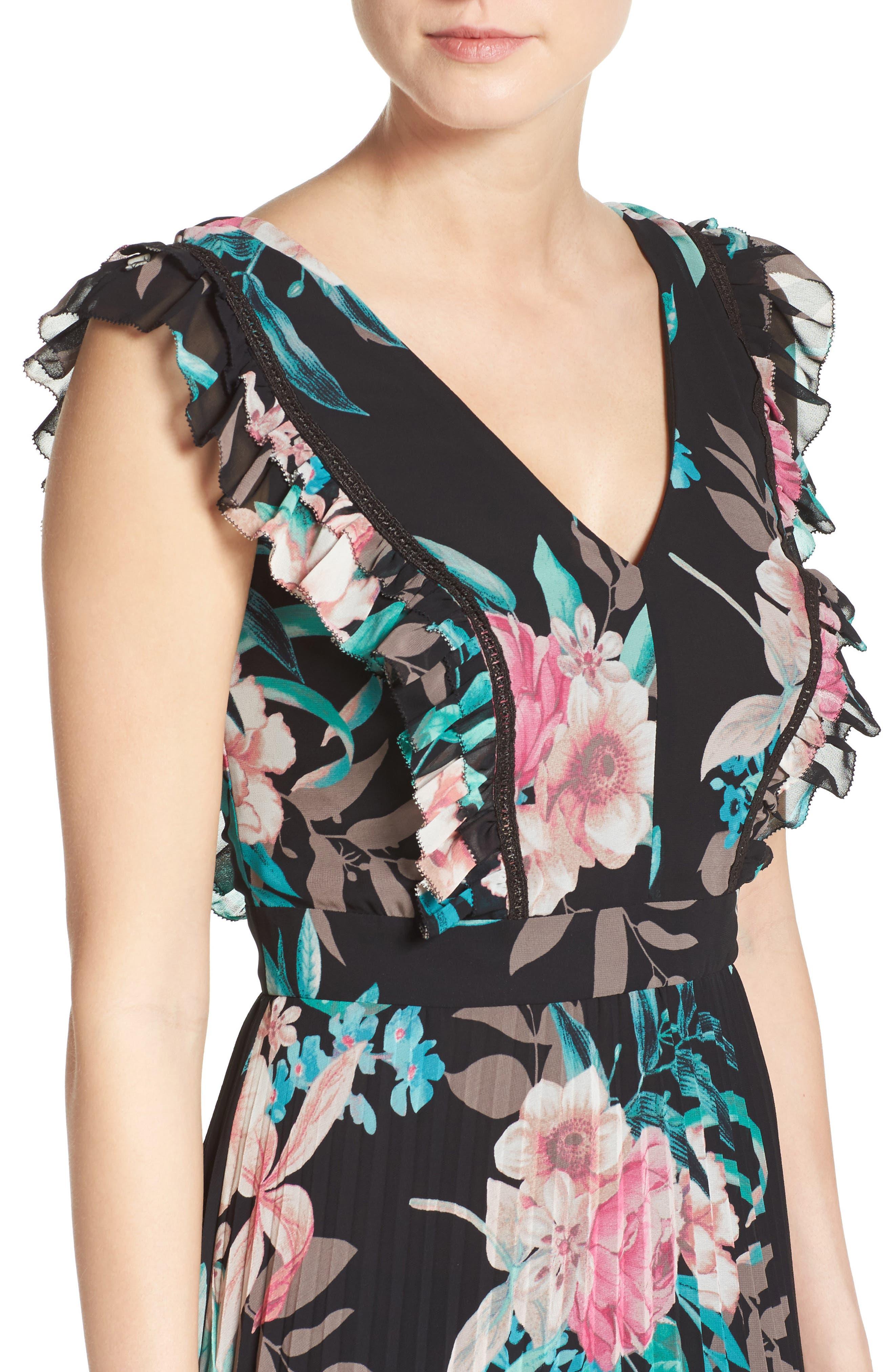 Alternate Image 4  - Eliza J Ruffle Maxi Dress