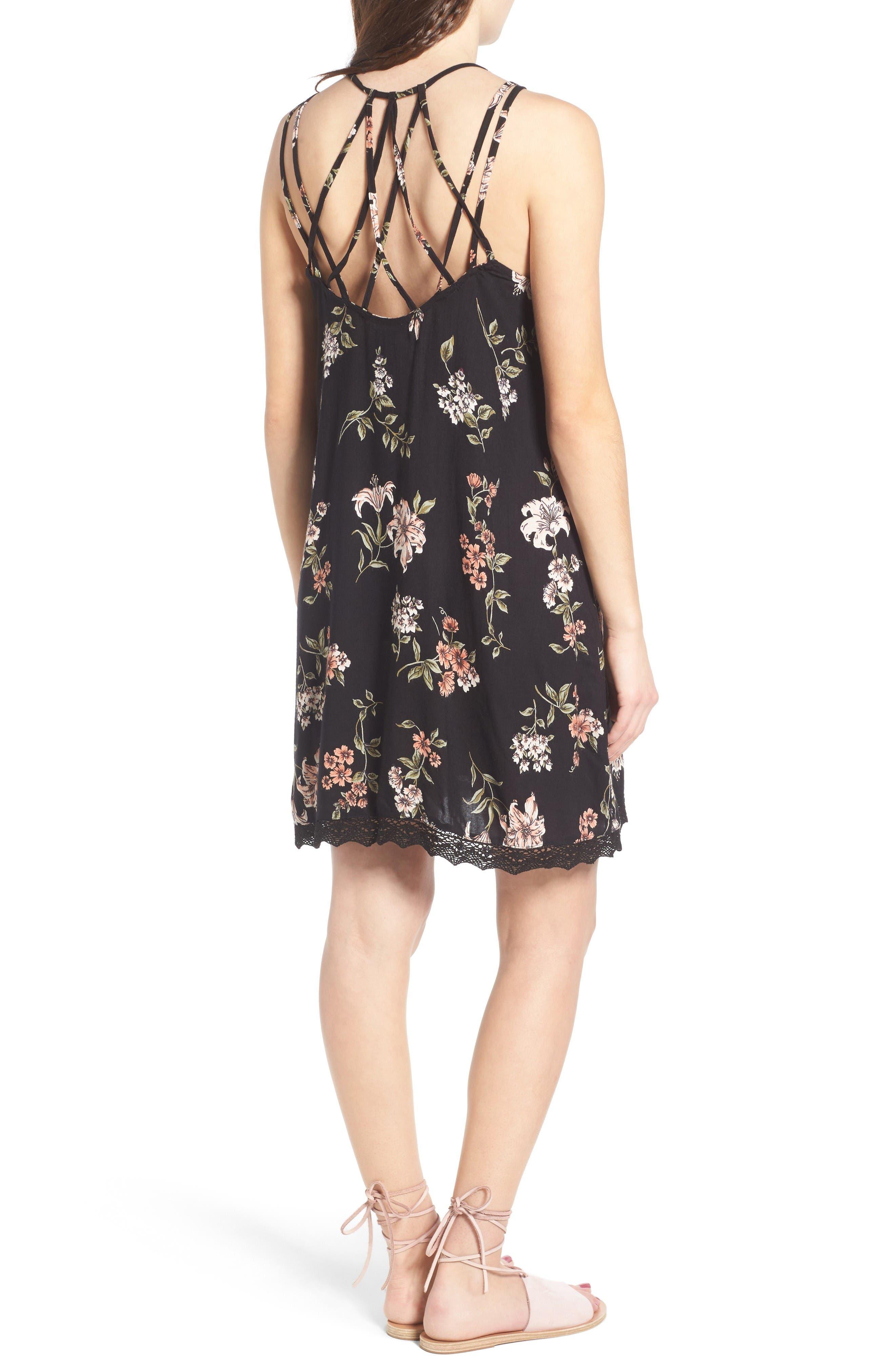 Alternate Image 2  - Angie Floral Print Strappy Back Dress