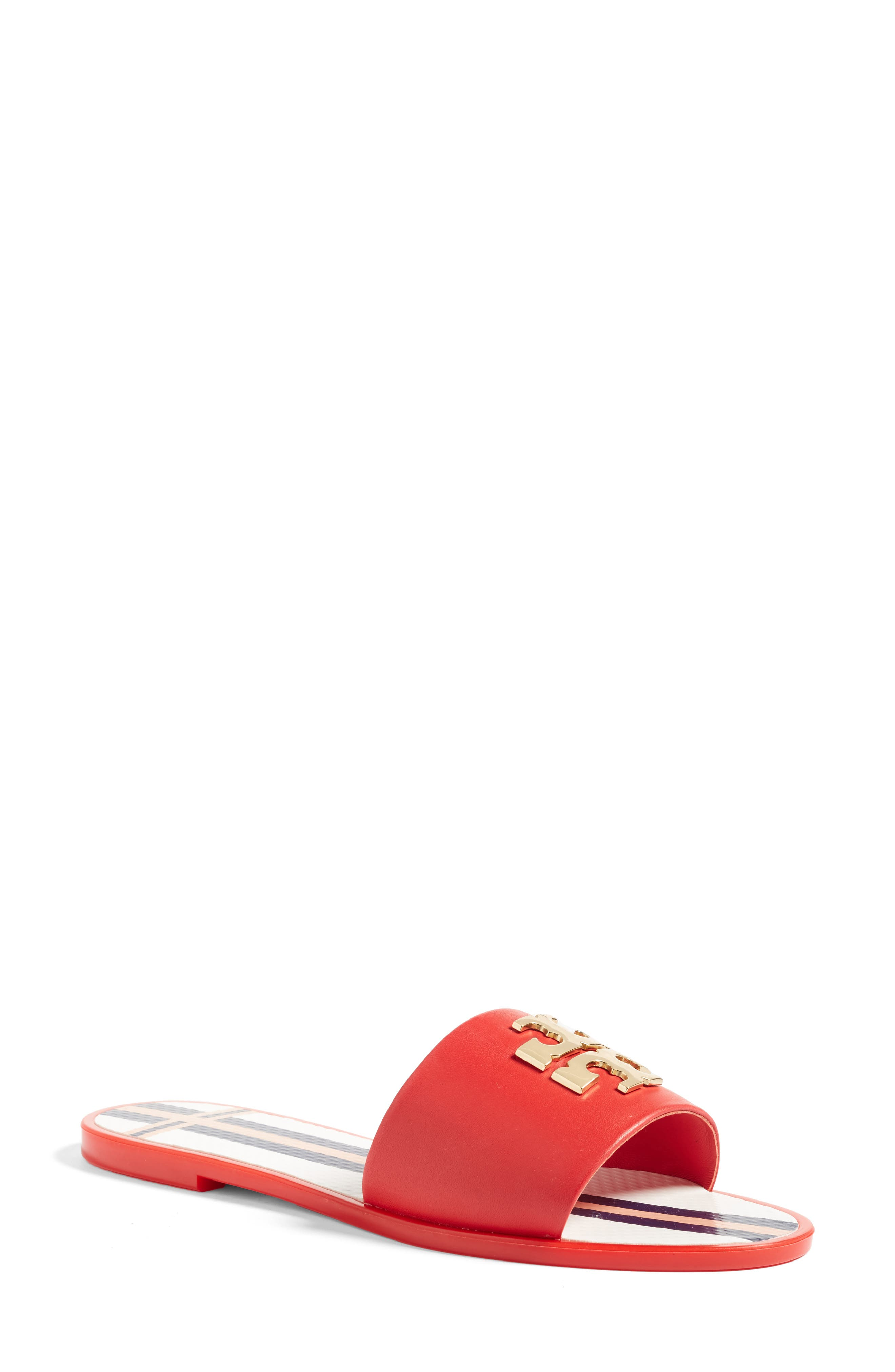 Tory Burch Logo Slide Sandal (Women)