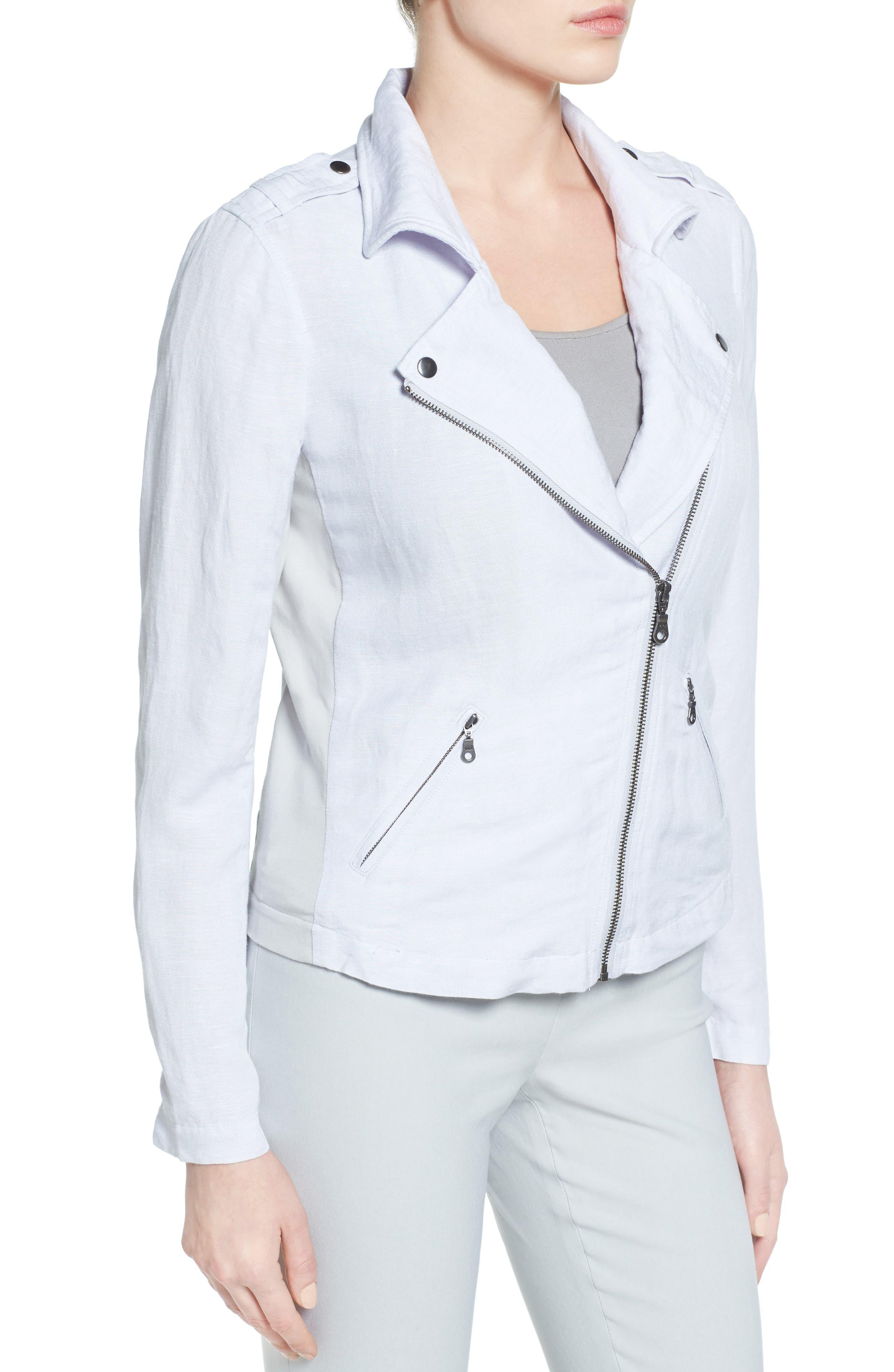 Alternate Image 3  - NIC+ZOE Linen Blend Biker Jacket (Regular & Petite)
