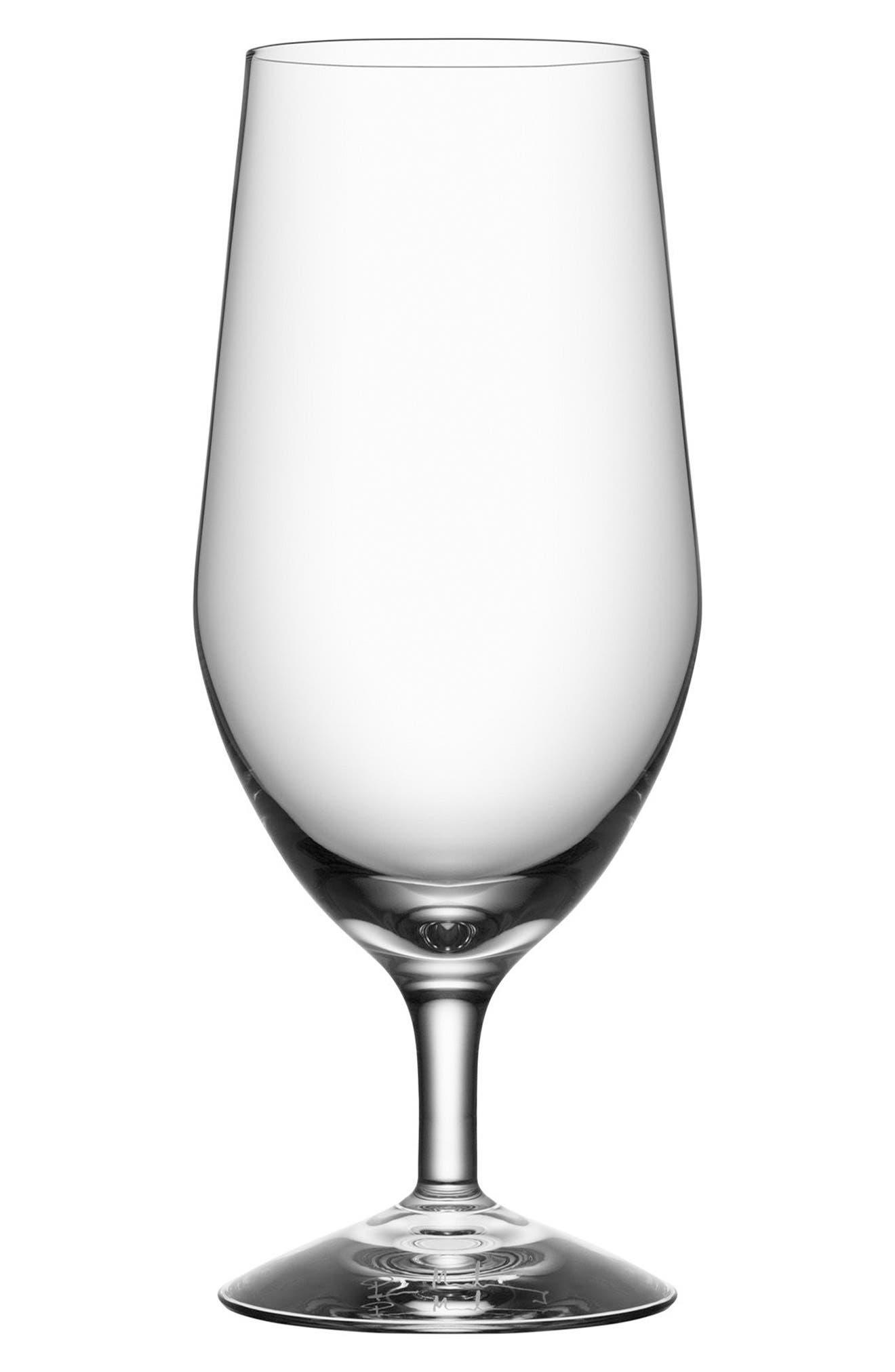 Orrefors Morberg Collection Set of 4 Crystal Beer Glasses