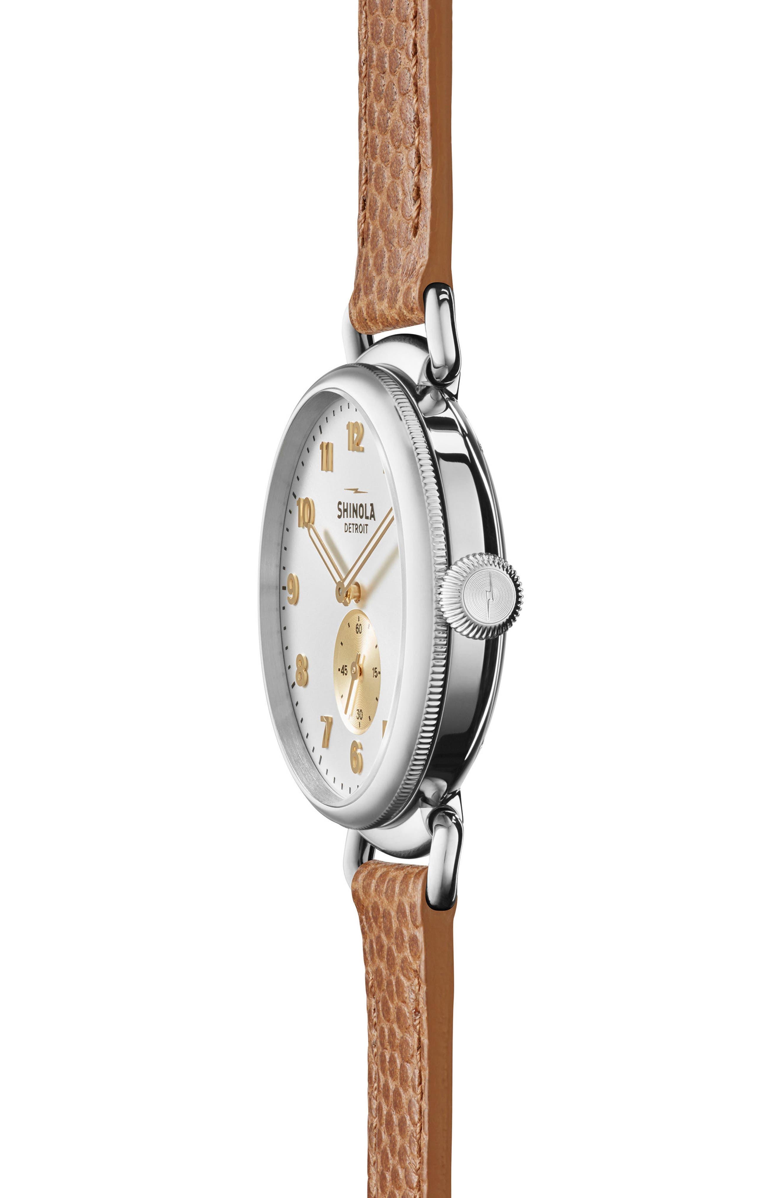 Alternate Image 3  - Shinola The Canfield Alligator Strap Watch, 38mm