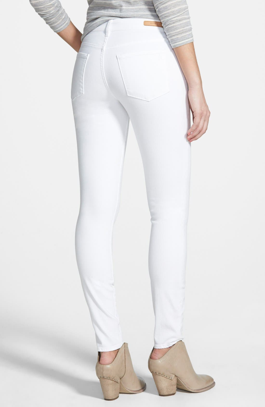 Alternate Image 2  - Articles of Society 'Sarah' Skinny Jeans (White)