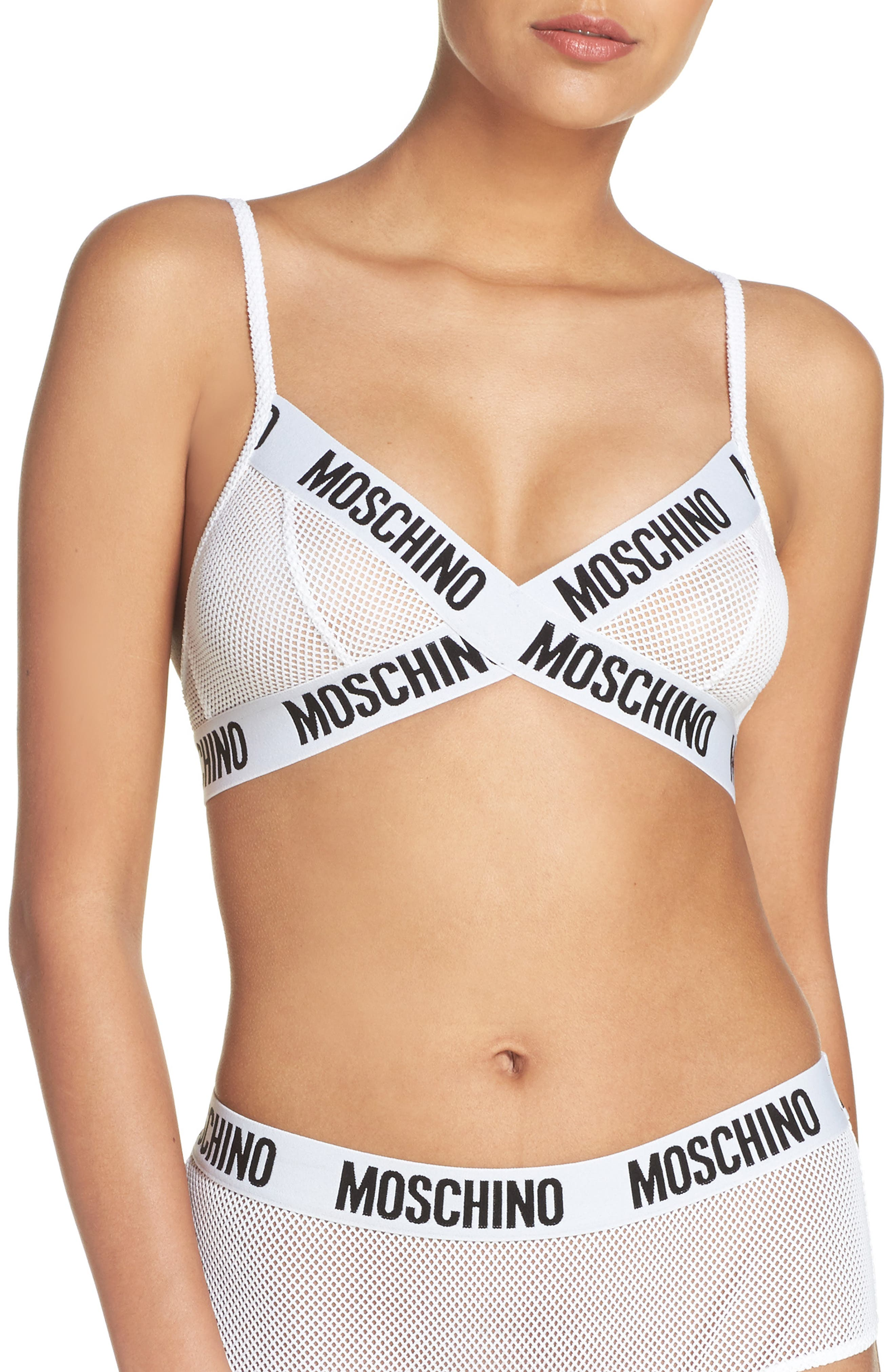 Alternate Image 1 Selected - Moschino Mesh Triangle Bralette