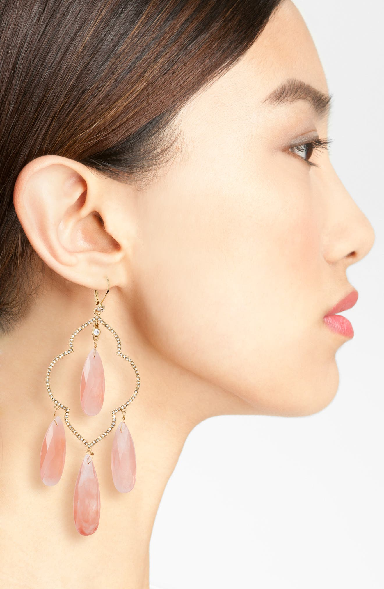 Alternate Image 2  - kate spade new york large chandelier earrings