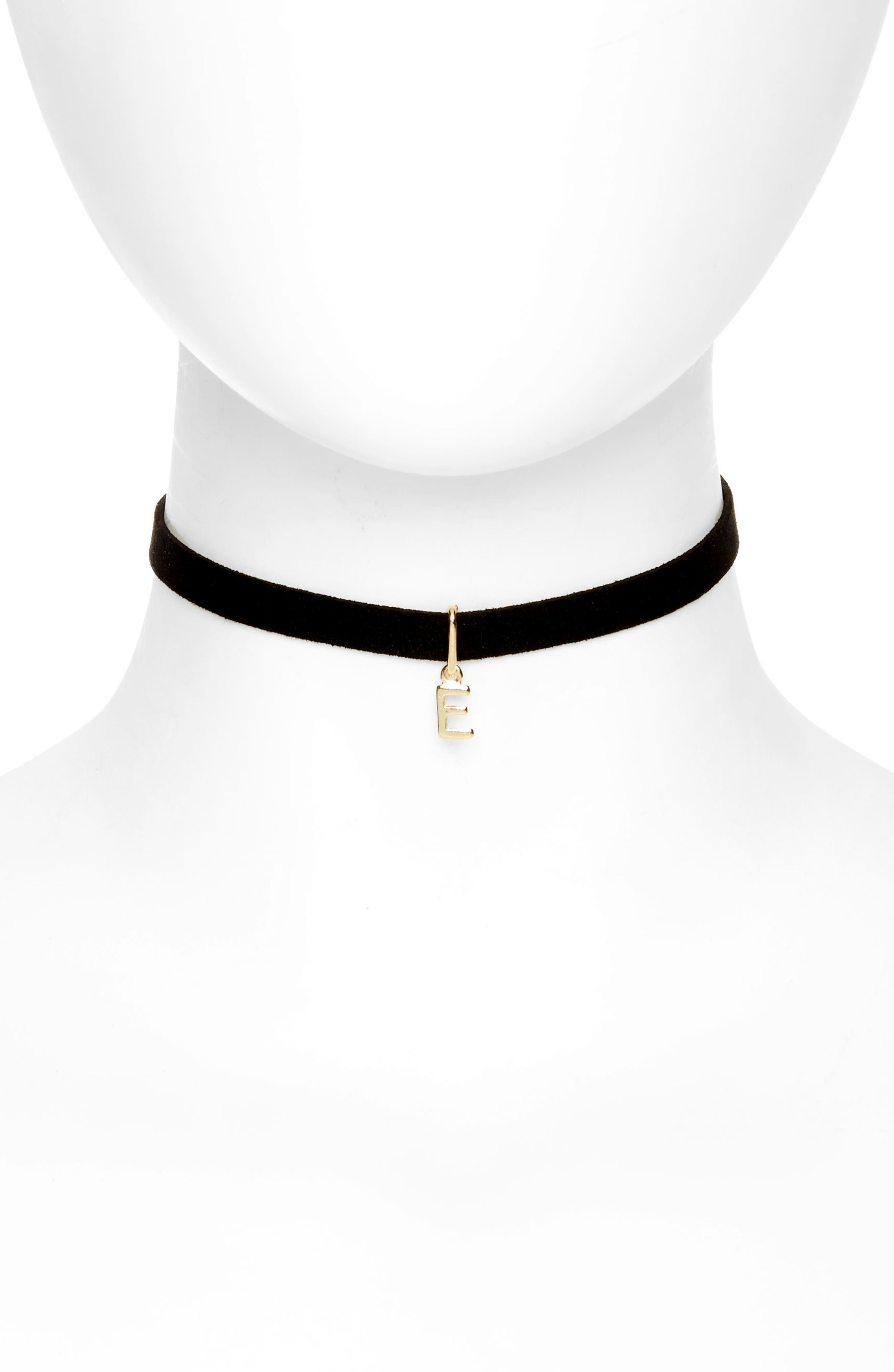 Alternate Image 1 Selected - BP. Initial Charm Suede Choker