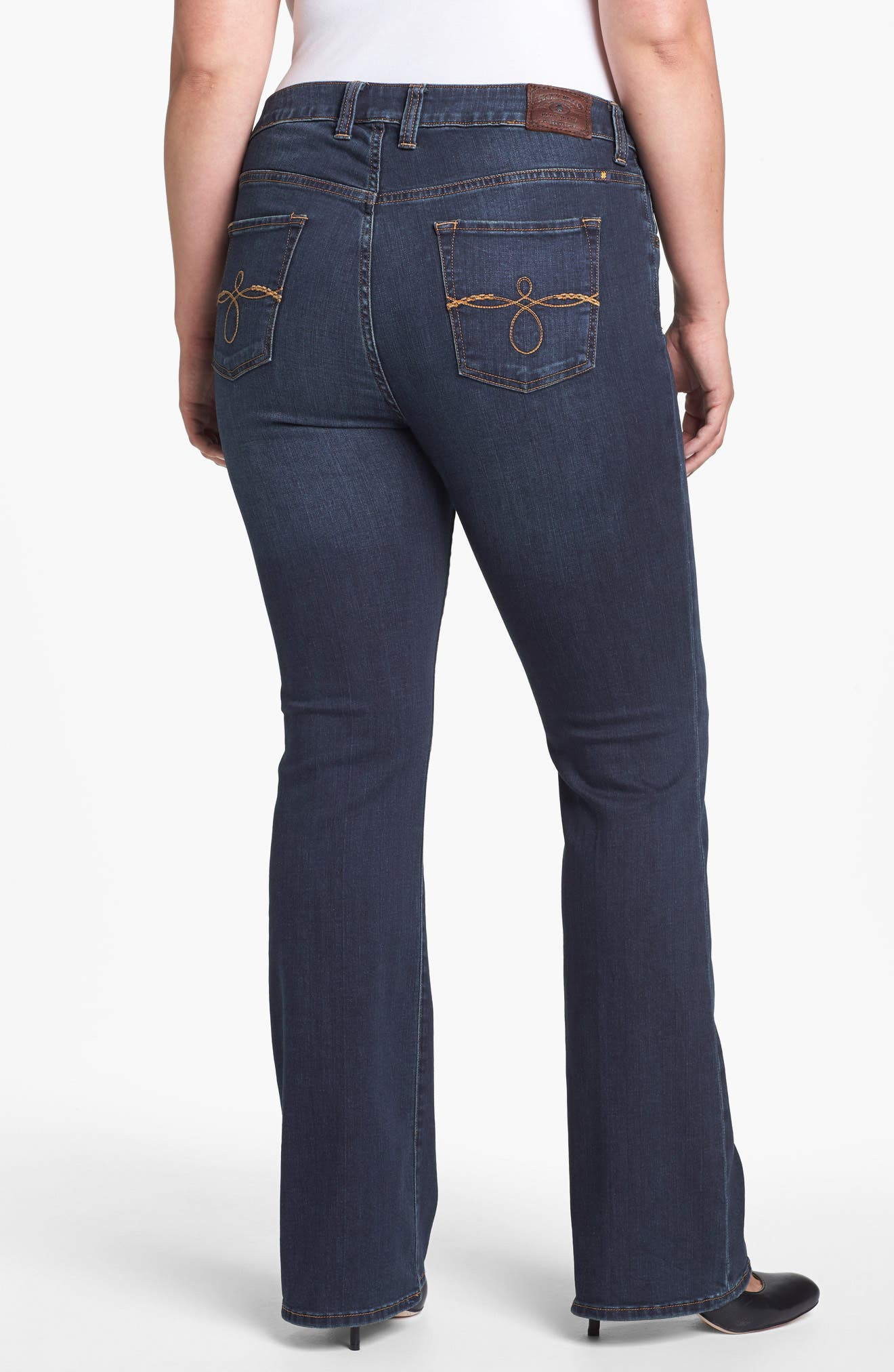 Alternate Image 4  - Lucky Brand 'Ginger' Bootcut Jeans (Plus Size)