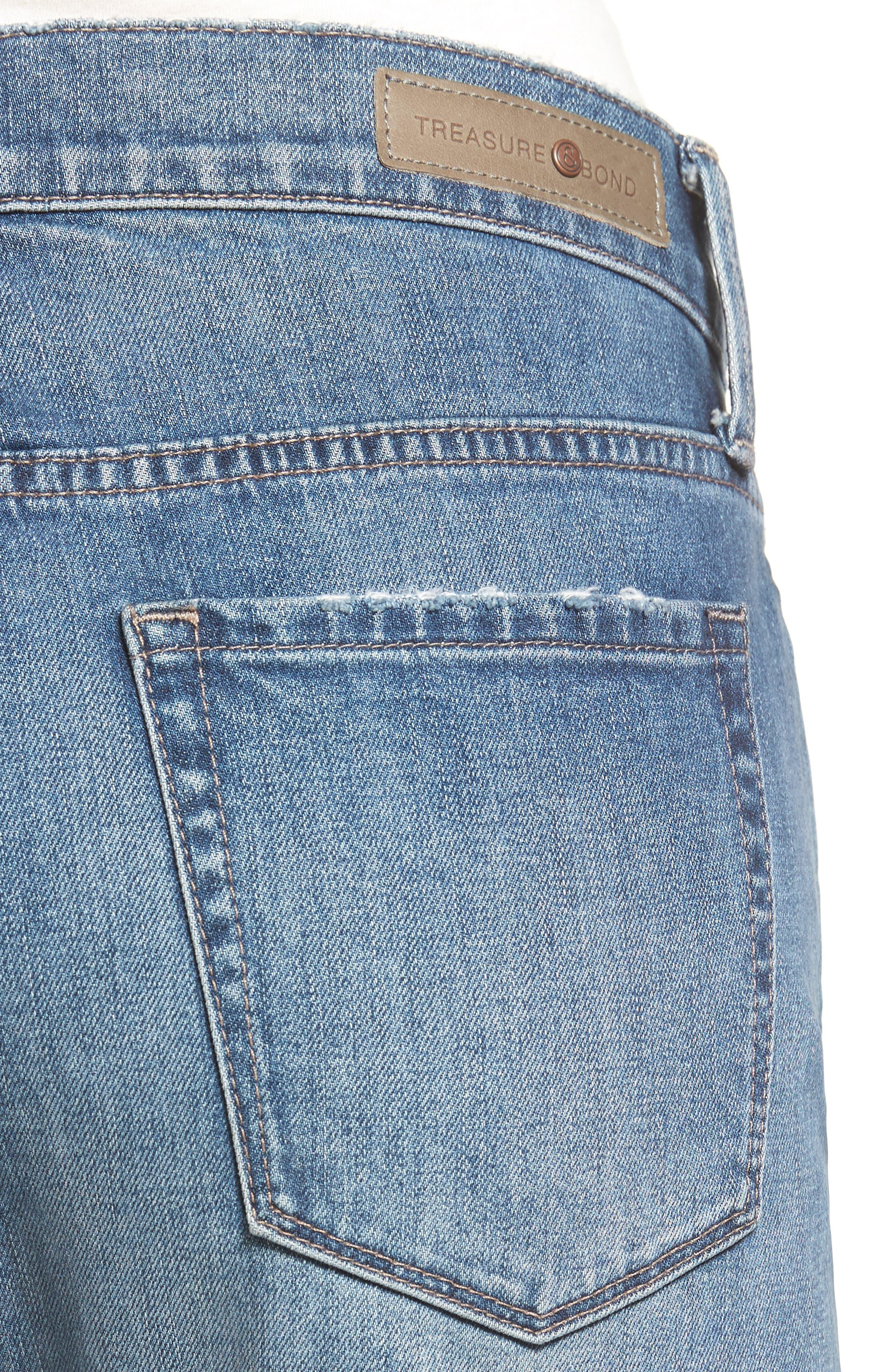 Alternate Image 4  - Treasure & Bond Relaxed Jeans (Gravel Dusk Destroyed)