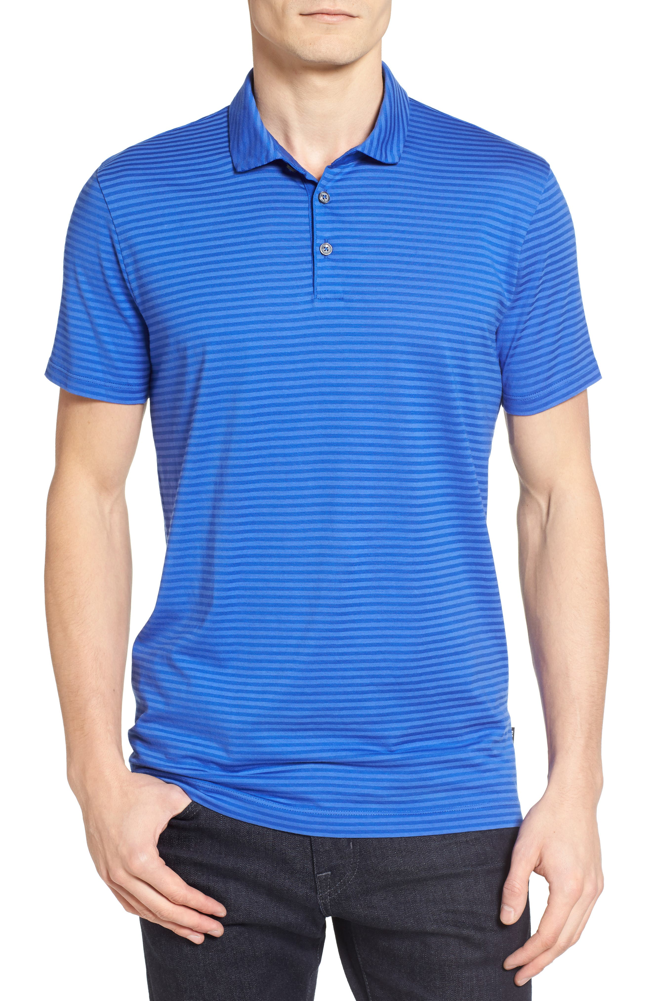 BOSS Press Tonal Stripe Polo