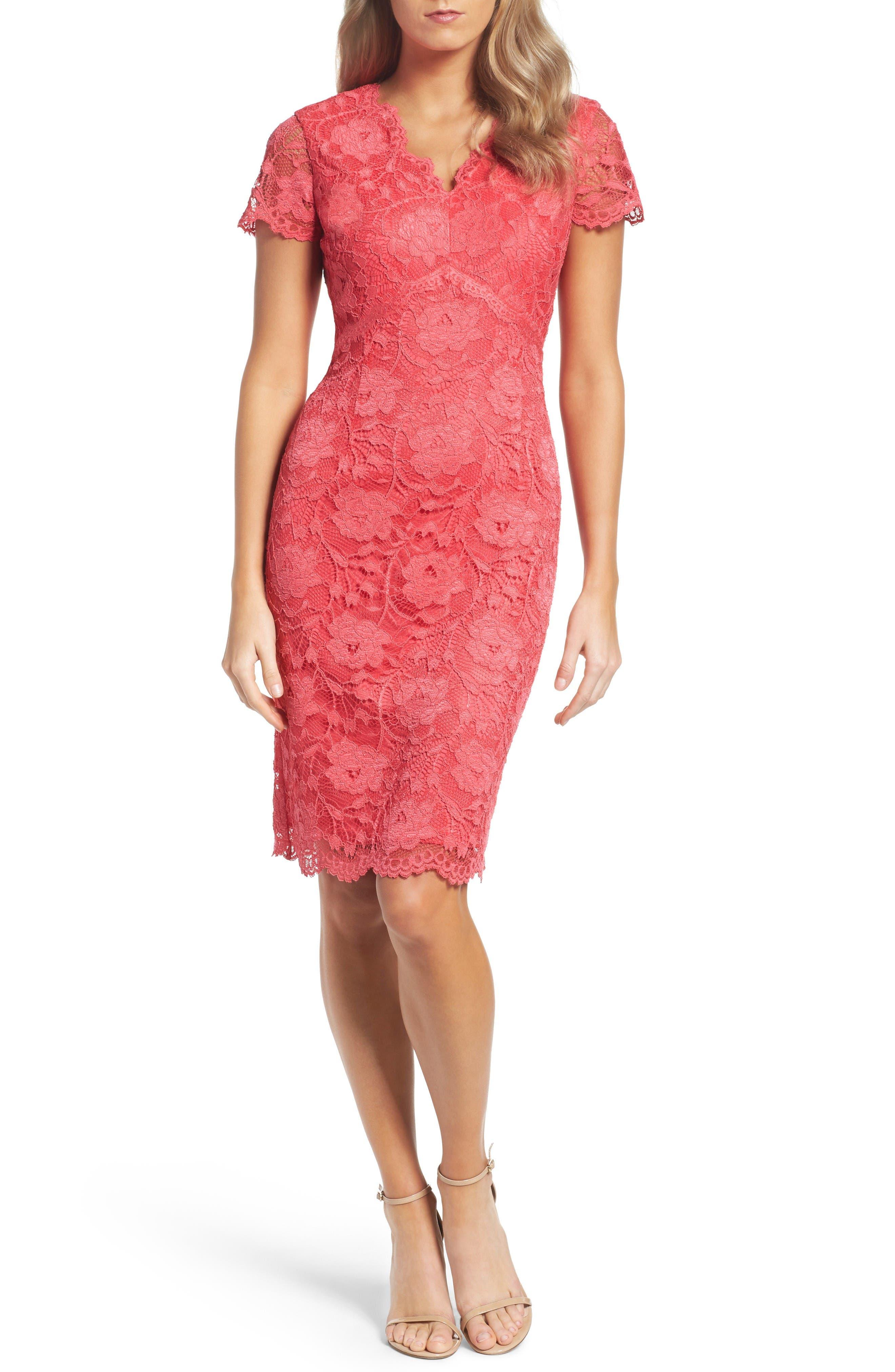Ellen Tracy Lace Sheath Dress (Regular & Petite)