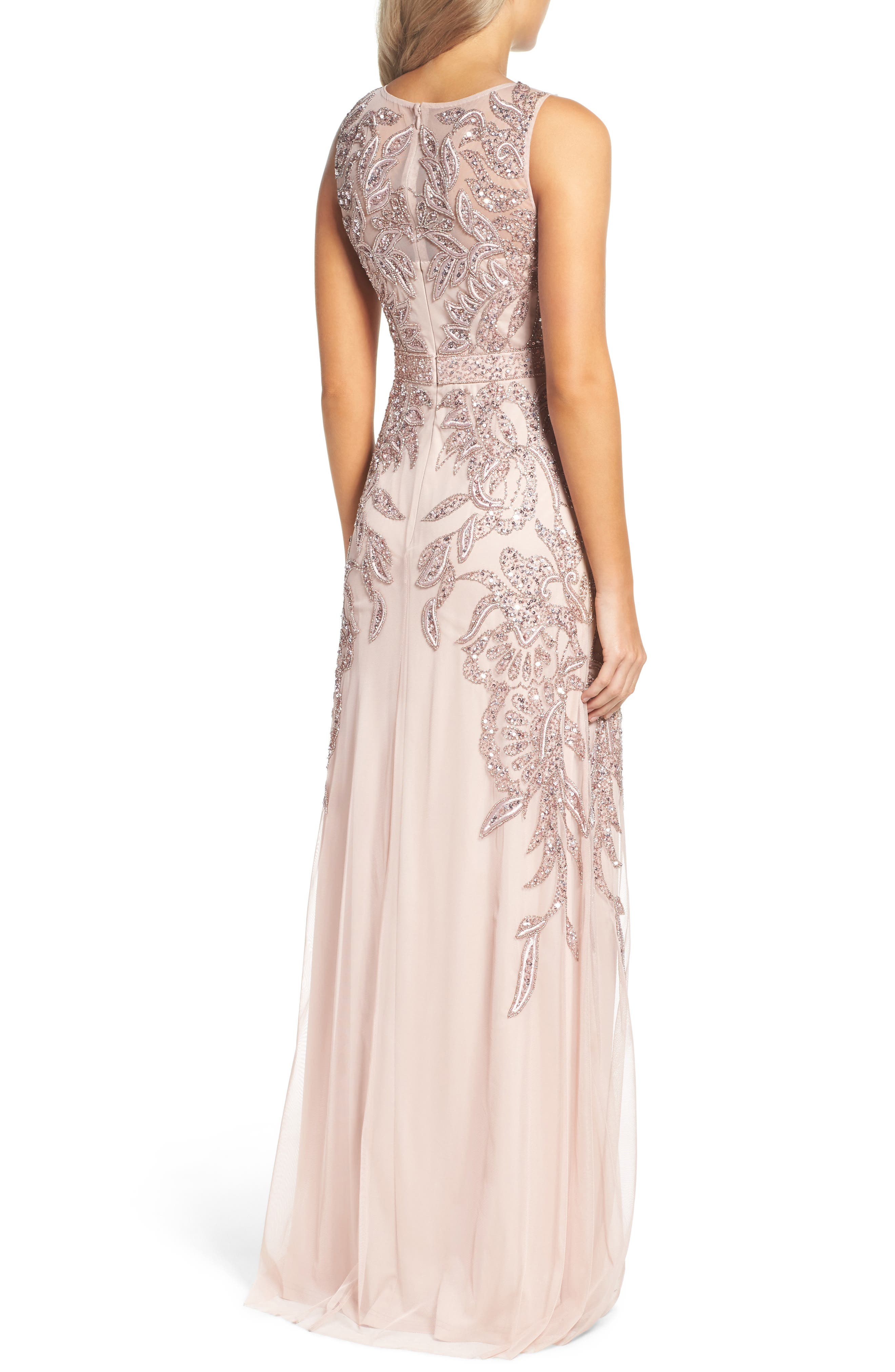 Alternate Image 2  - Adrianna Papell Embellished Gown (Regular & Petite)