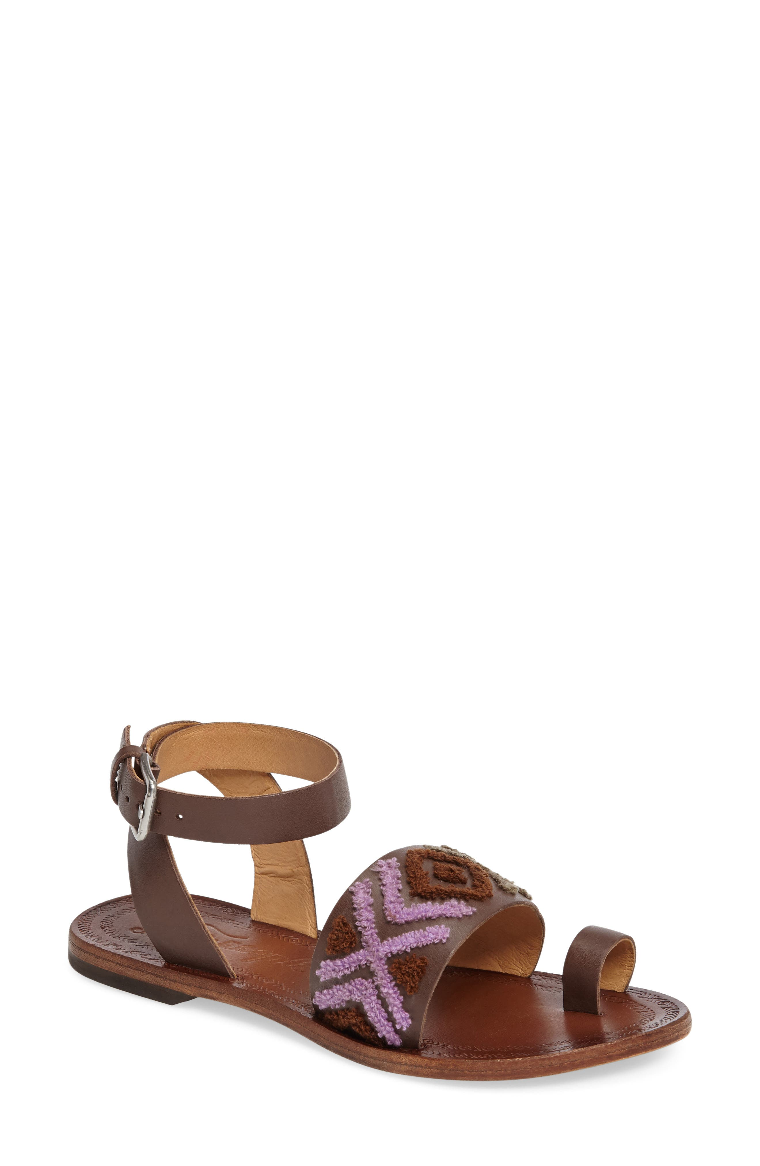 Free People Torrence Ankle Wrap Sandal (Women)