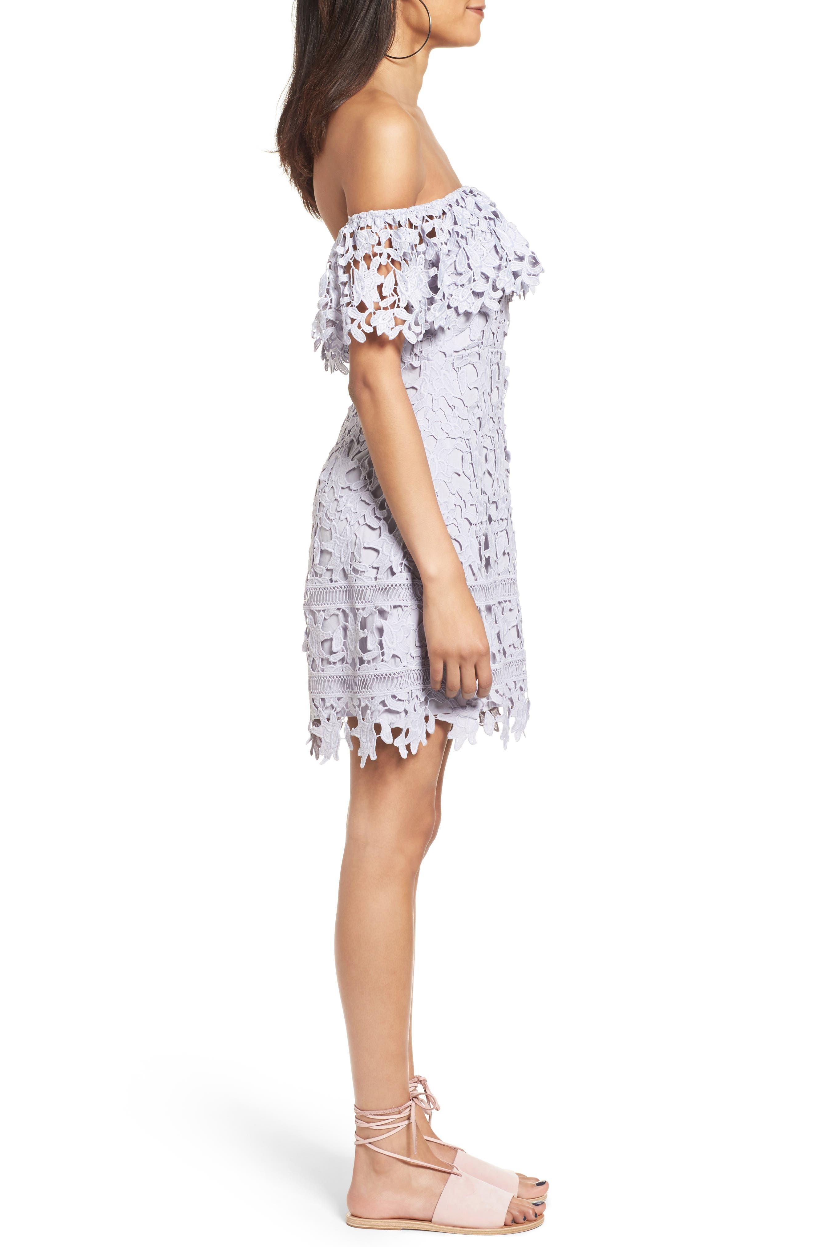 Alternate Image 3  - ASTR the Label Off the Shoulder Lace Minidress