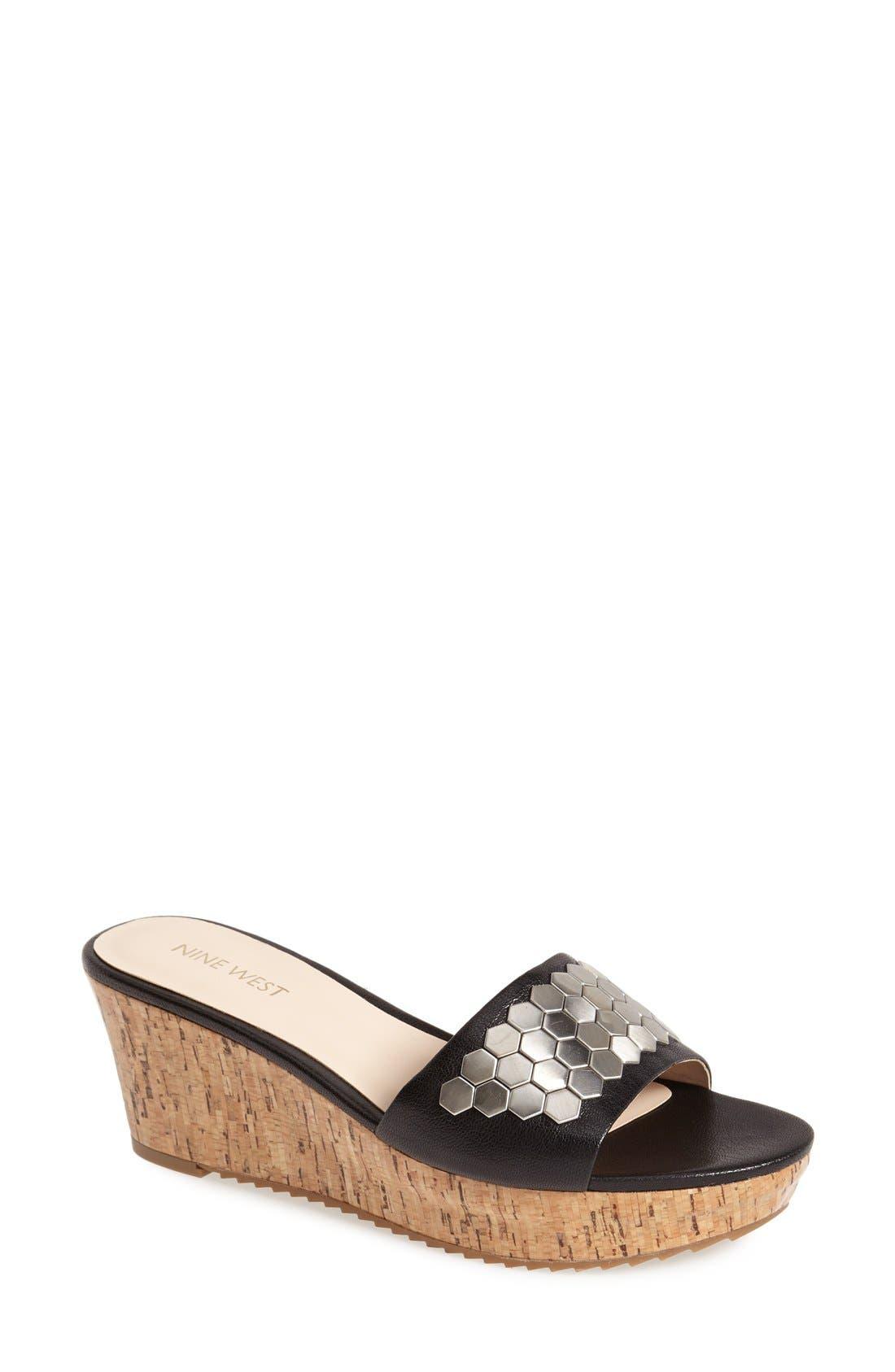 Alternate Image 1 Selected - Nine West 'Casandre' Slide Sandal (Women)