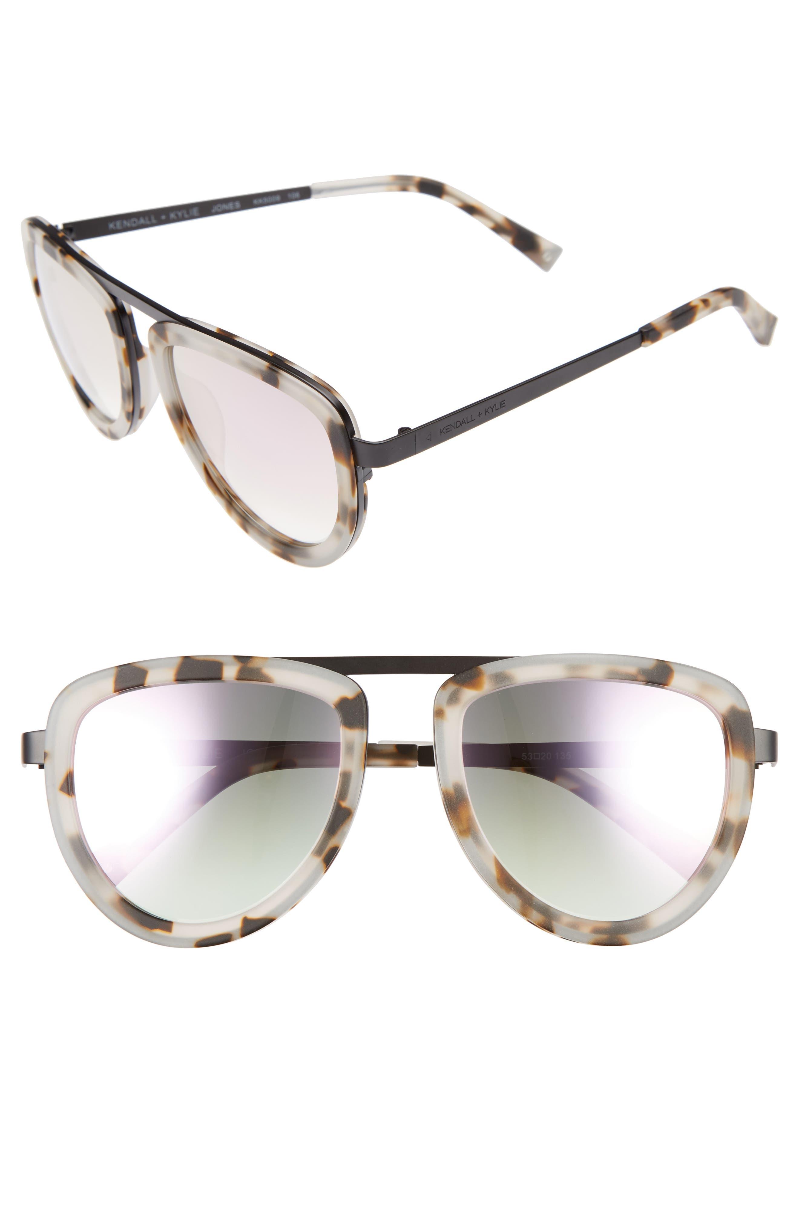 KENDALL + KYLIE 53mm Aviator Sunglasses