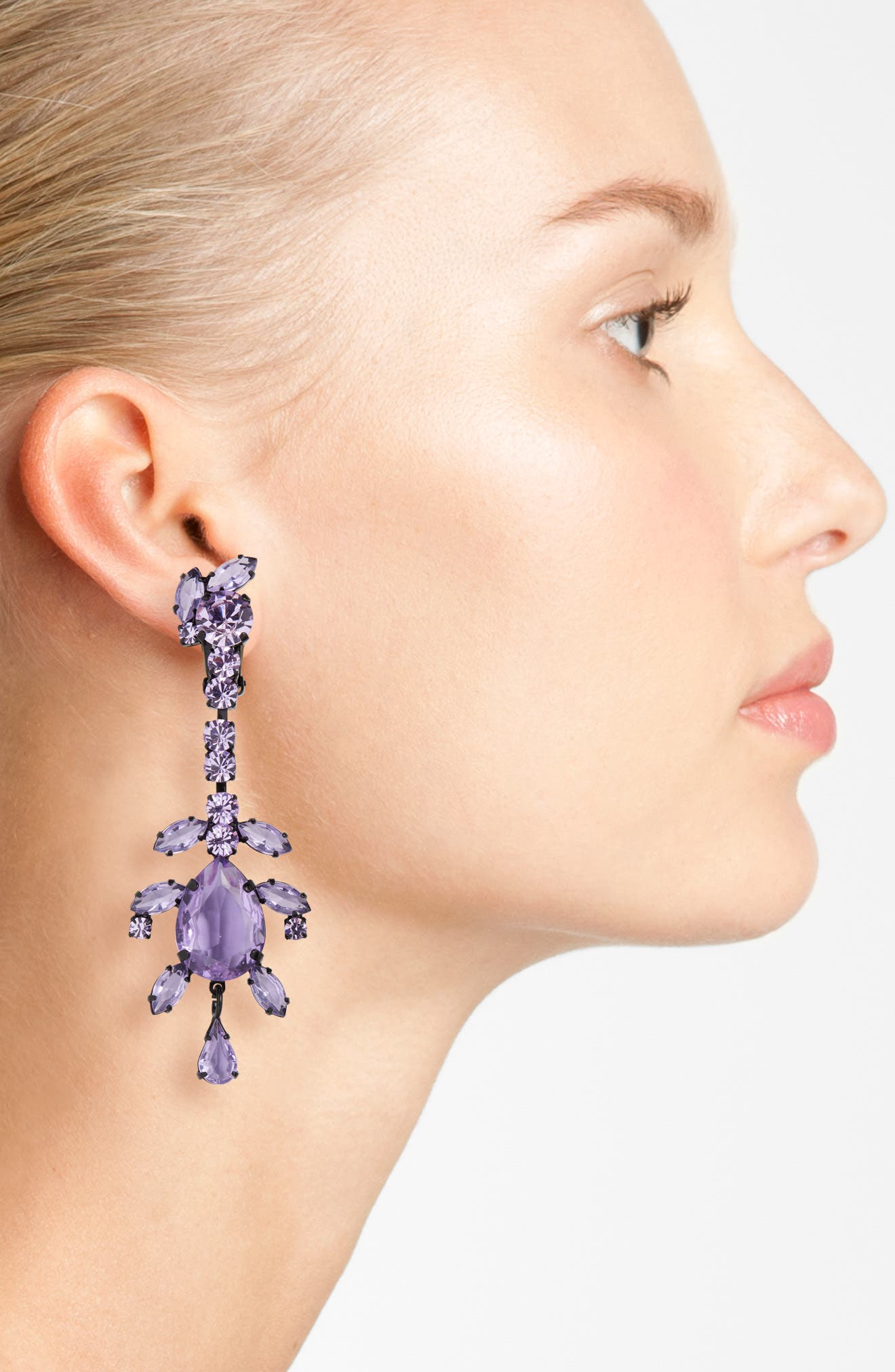 Alternate Image 2  - Ashley Williams Crystal Drop Earrings