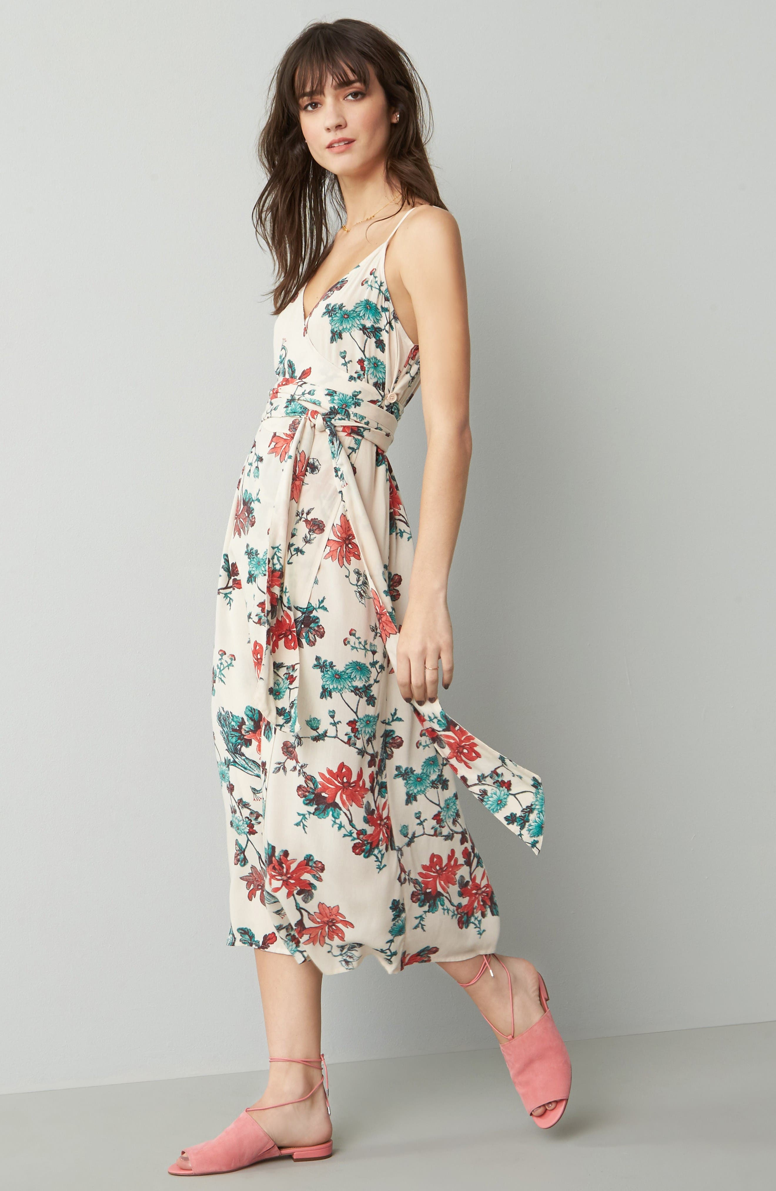 Alternate Image 2  - Hinge Midi Wrap Dress