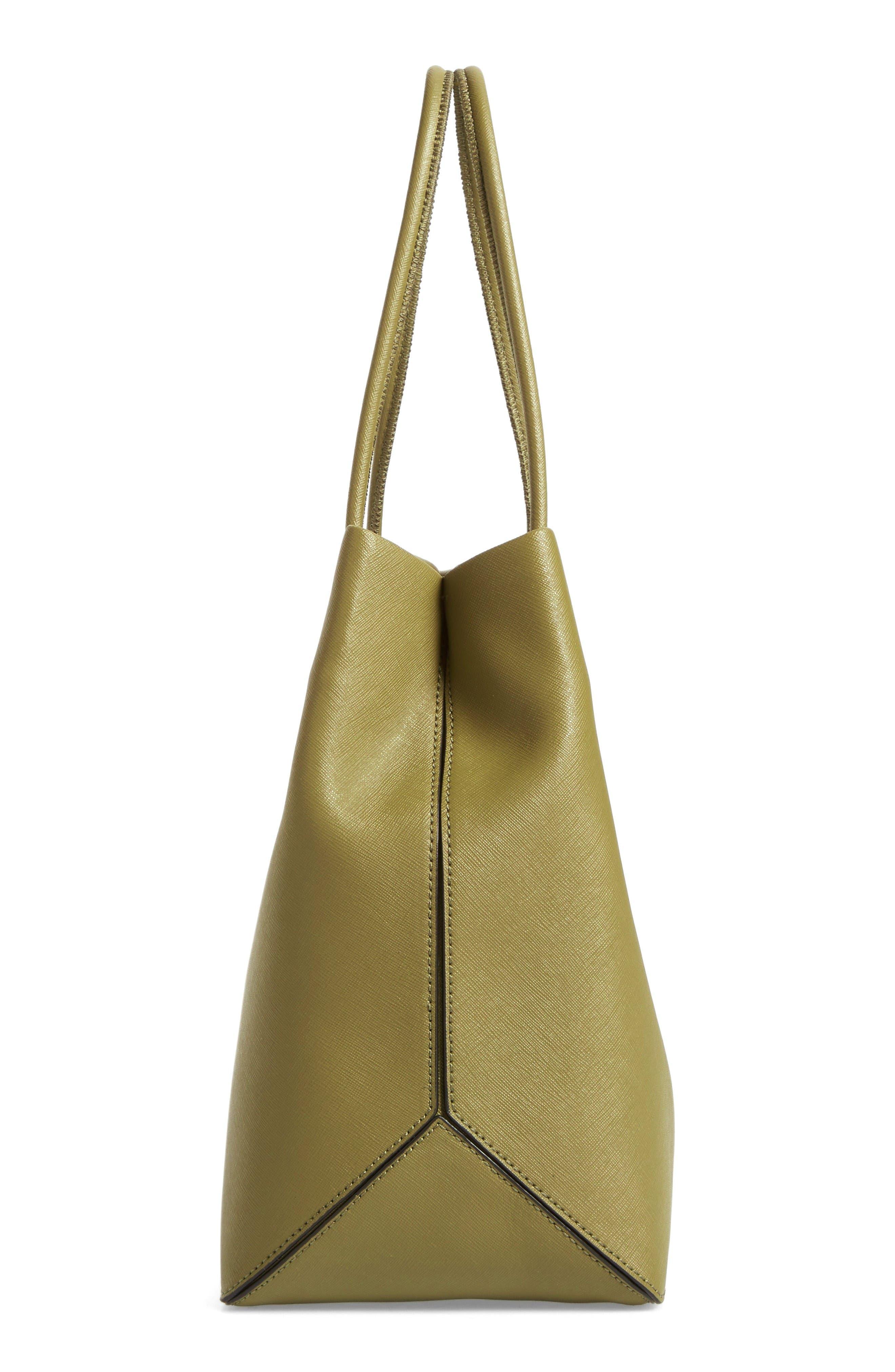 Alternate Image 5  - MARC JACOBS Logo Leather Shopper