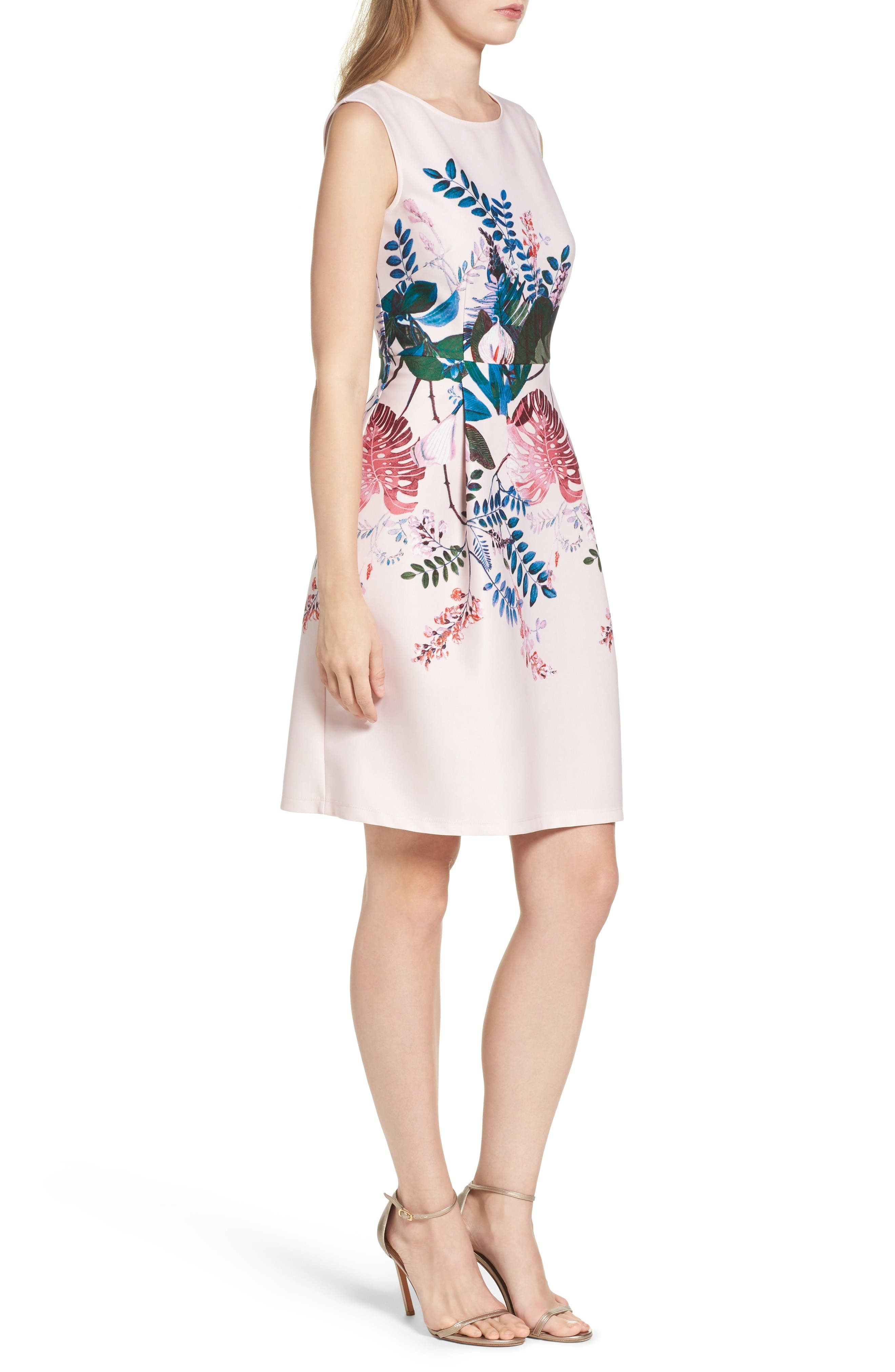 Alternate Image 3  - Adrianna Papell Placed Print Fit & Flare Dress