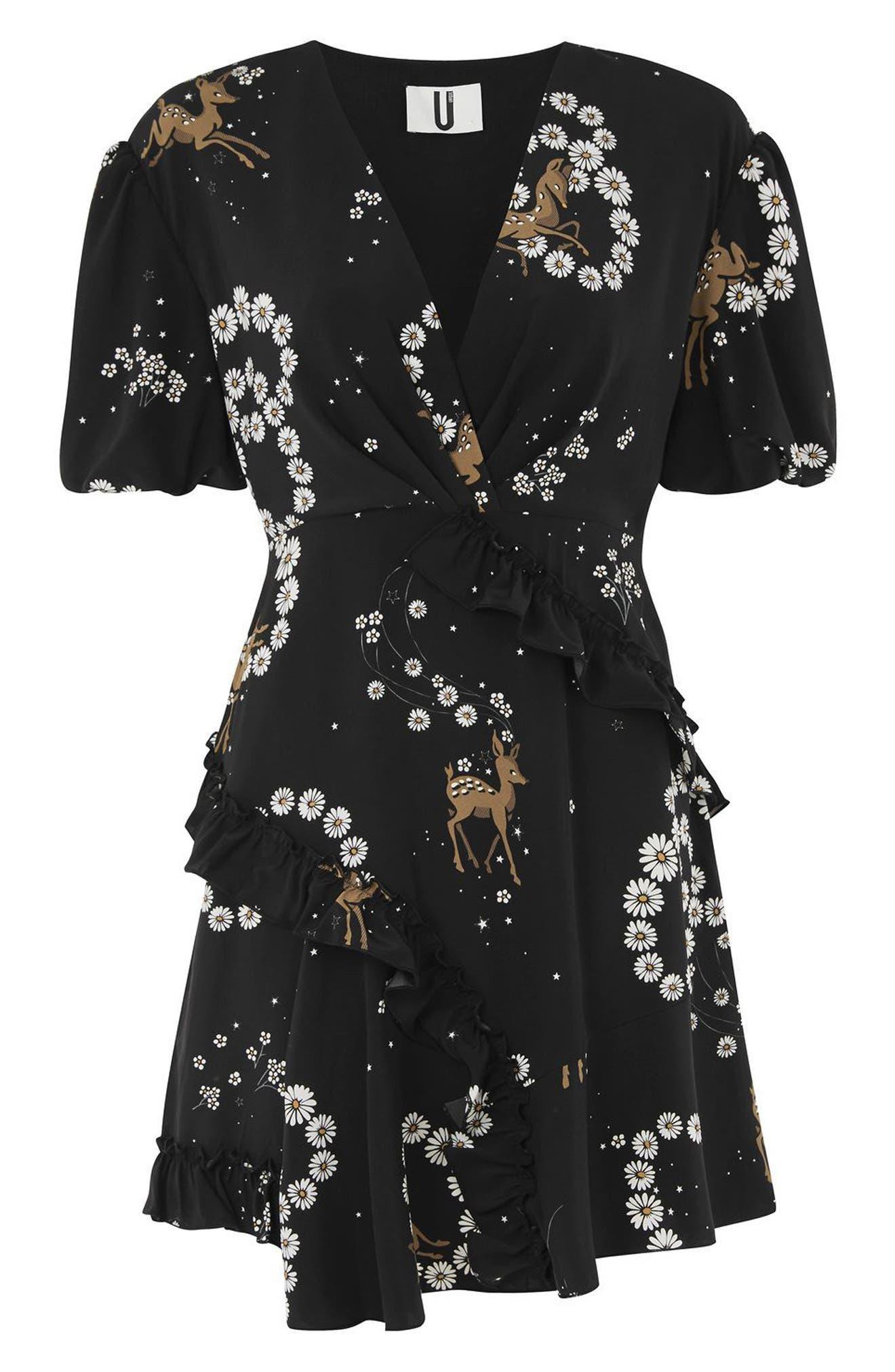 Alternate Image 6  - Topshop Unique Alice Silk Minidress