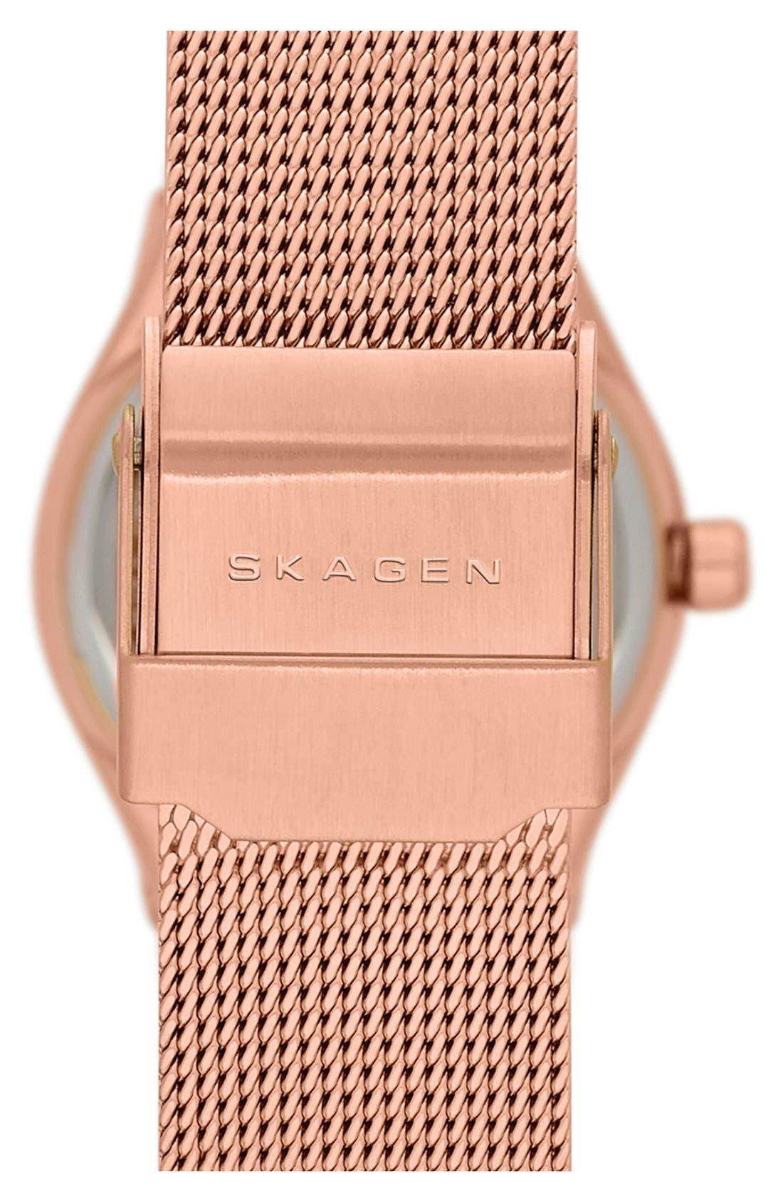 Alternate Image 2  - Skagen Small Round Mesh Strap Watch, 24mm
