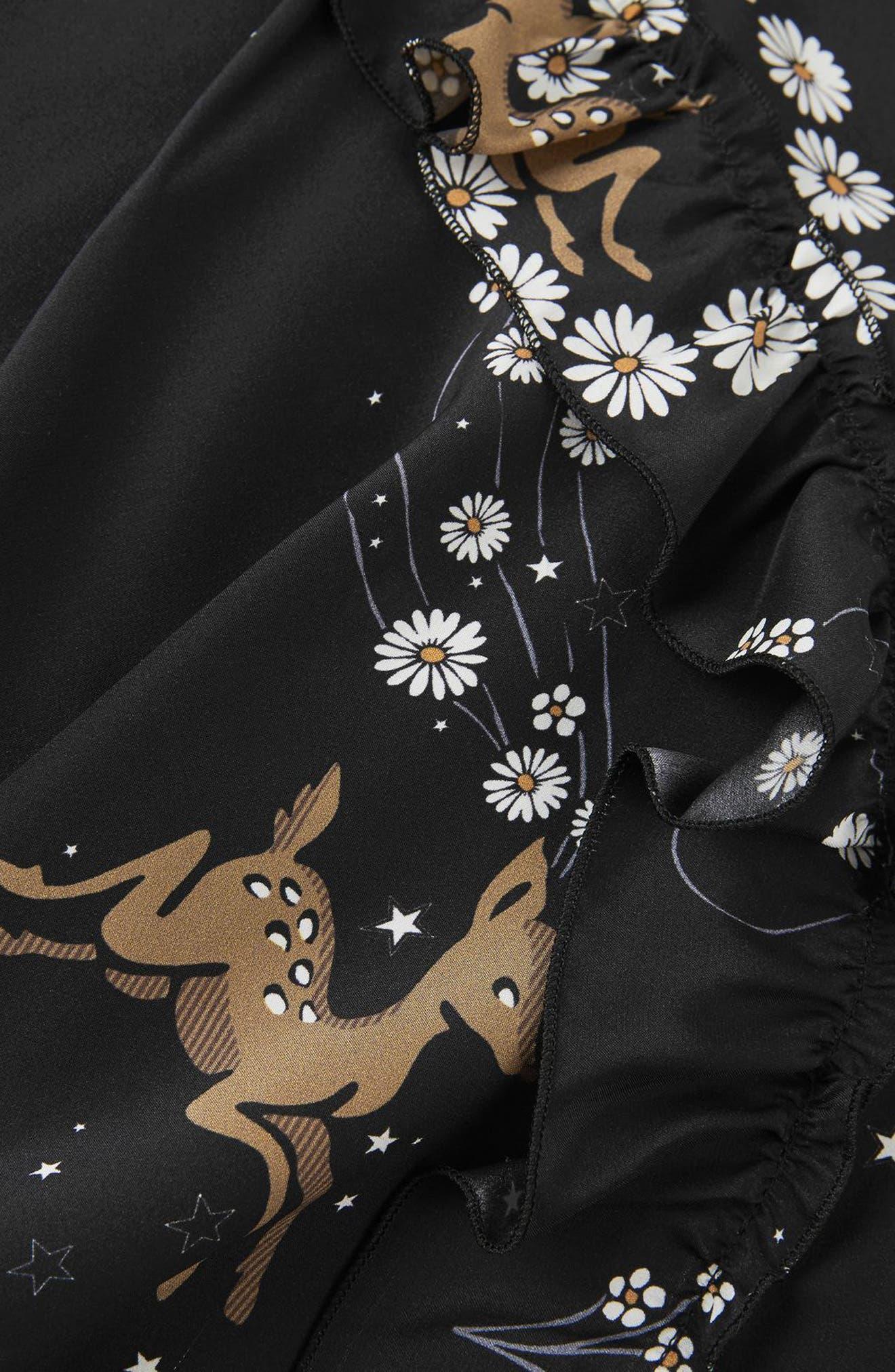 Alternate Image 8  - Topshop Unique Alice Silk Minidress