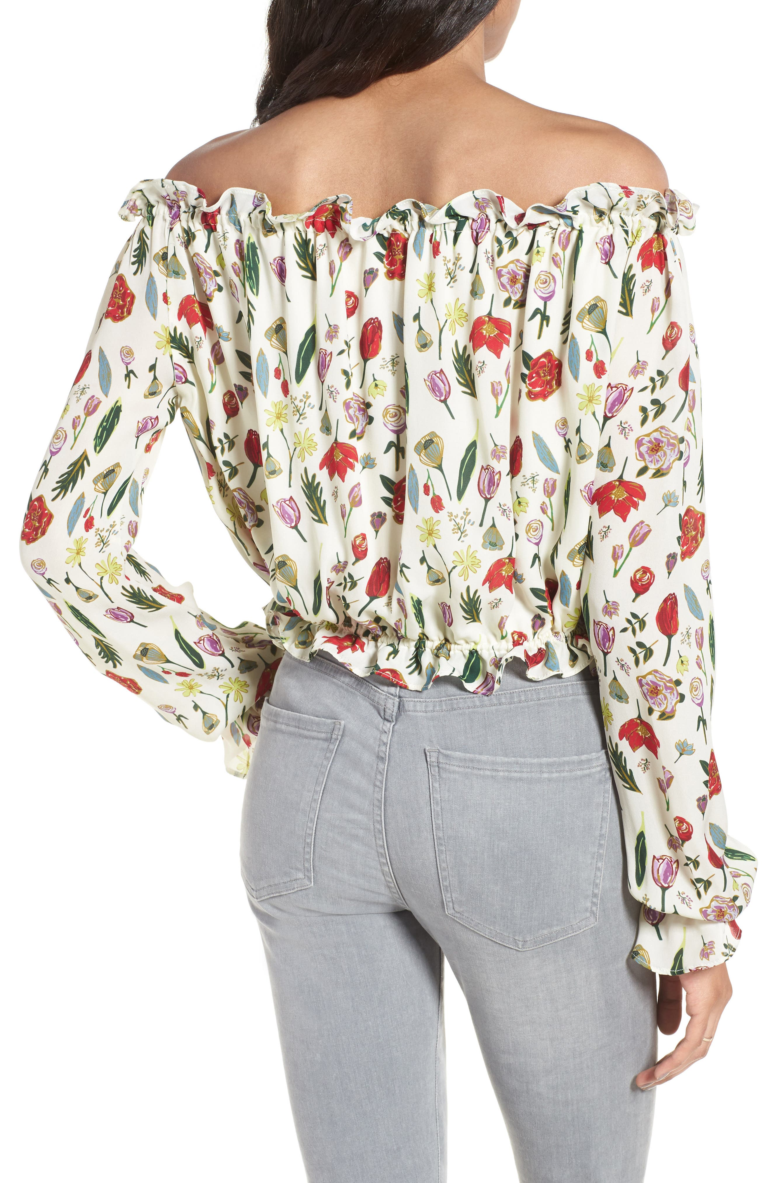 Alternate Image 2  - Stone Cold Fox Savona Off the Shoulder Silk Blouse