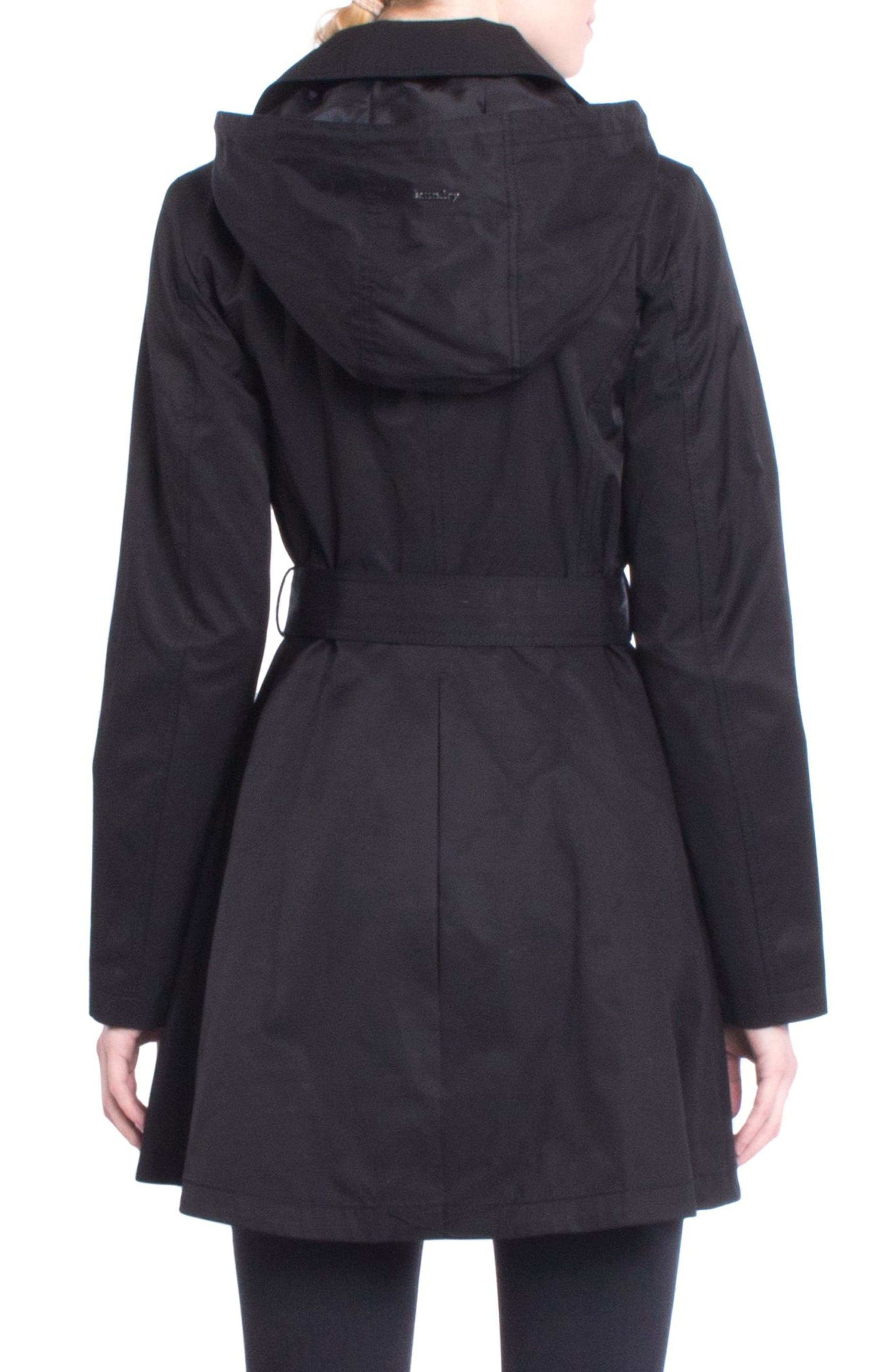 Alternate Image 2  - Laundry by Shelli Segal Fit & Flare Trench Coat