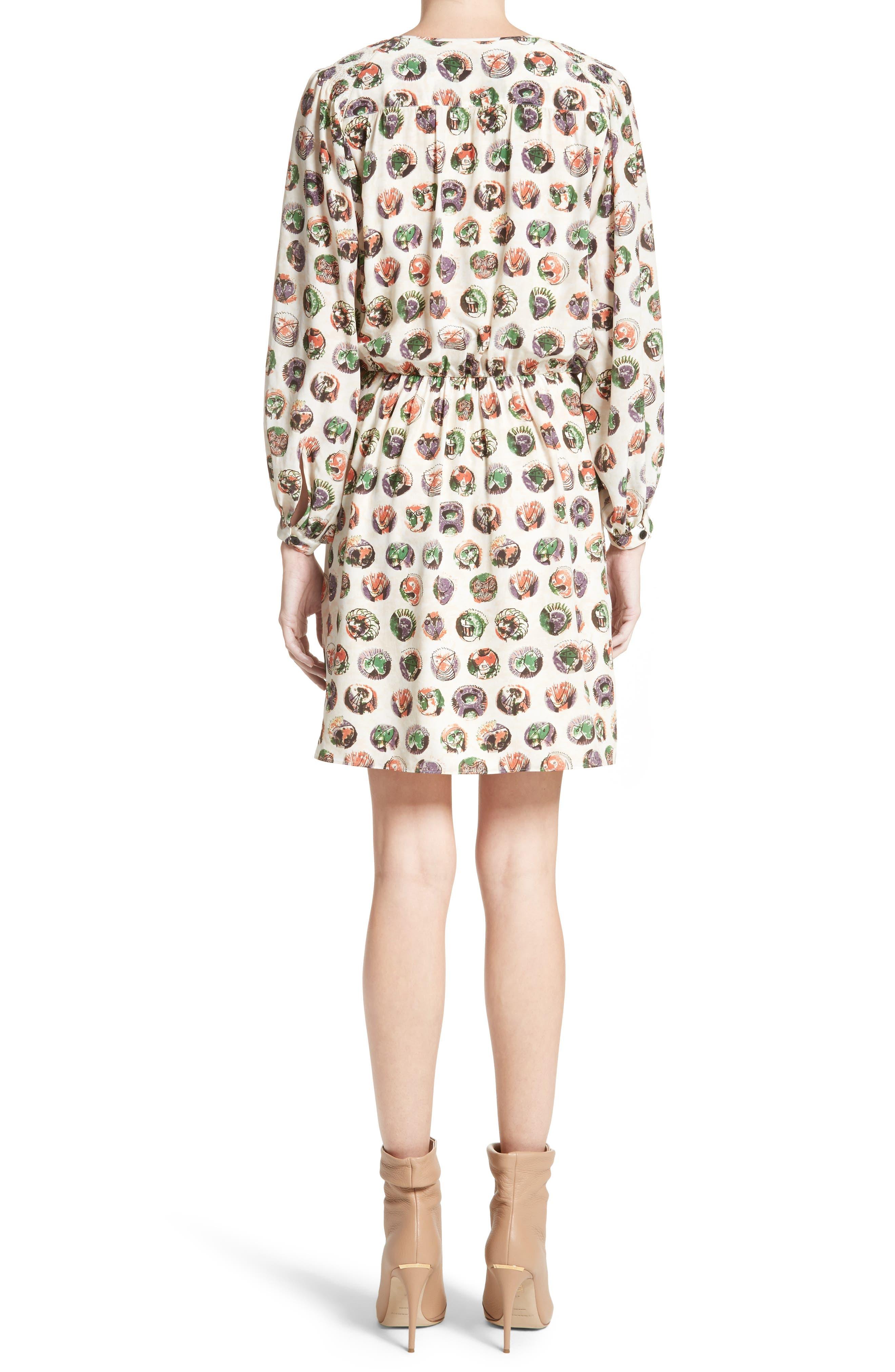 Alternate Image 2  - Burberry Verity Print Mulberry Silk Shirtdress