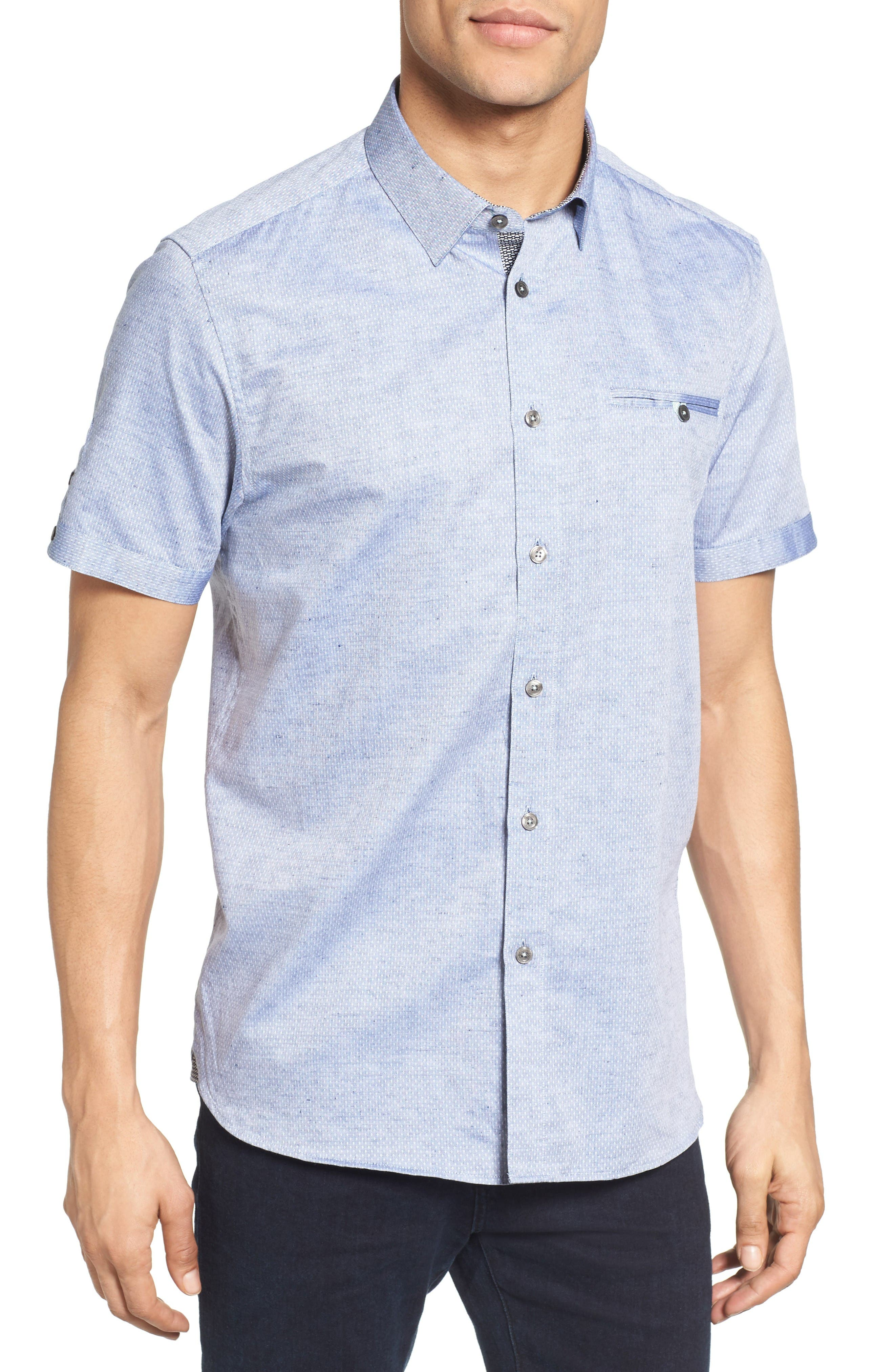 Ted Baker London Caycay Mini Bobby Modern Slim Fit Sport Shirt