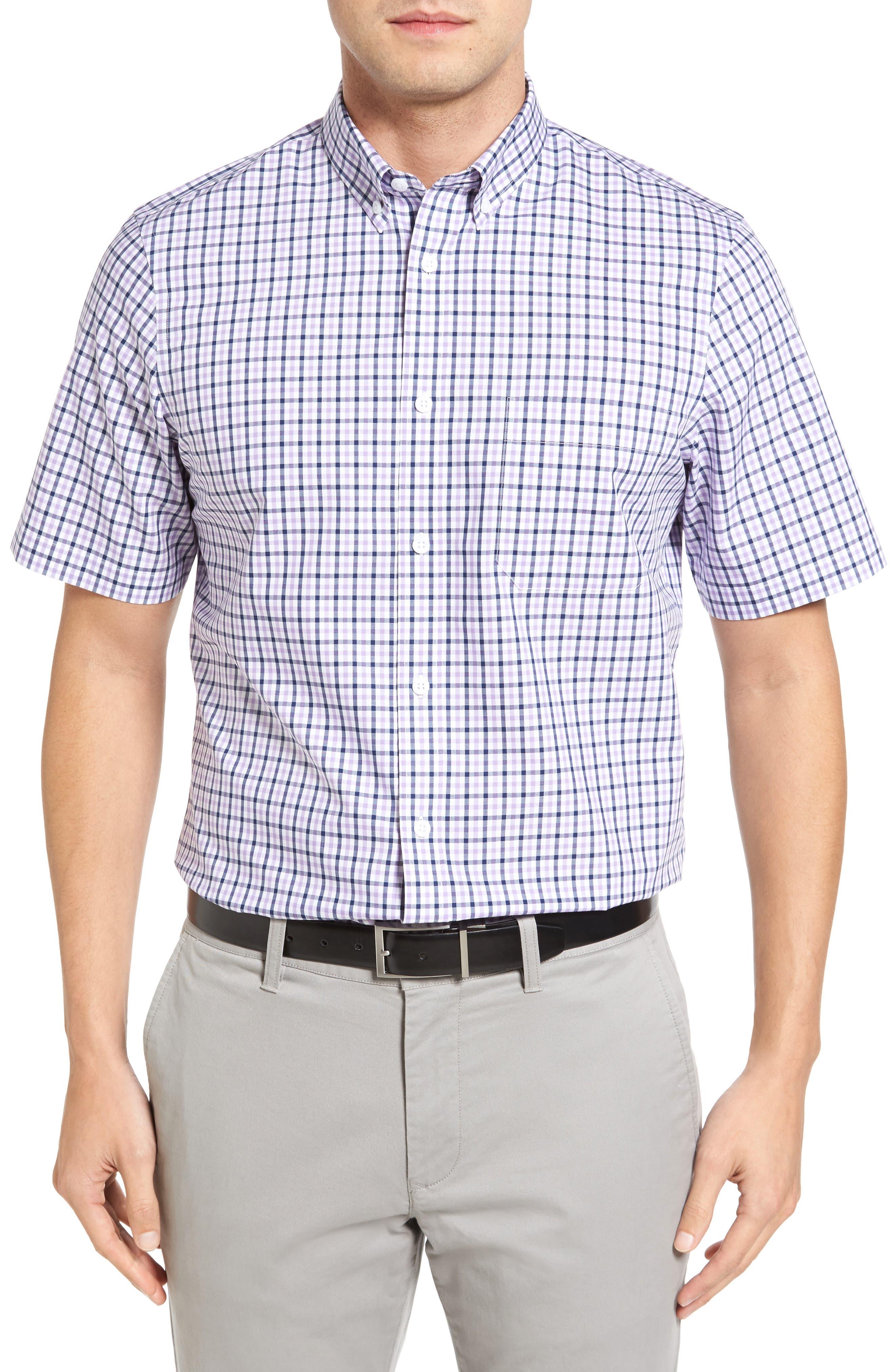 Nordstrom Men's Shop Smartcare™ Regular Fit Short Sleeve Sport Shirt